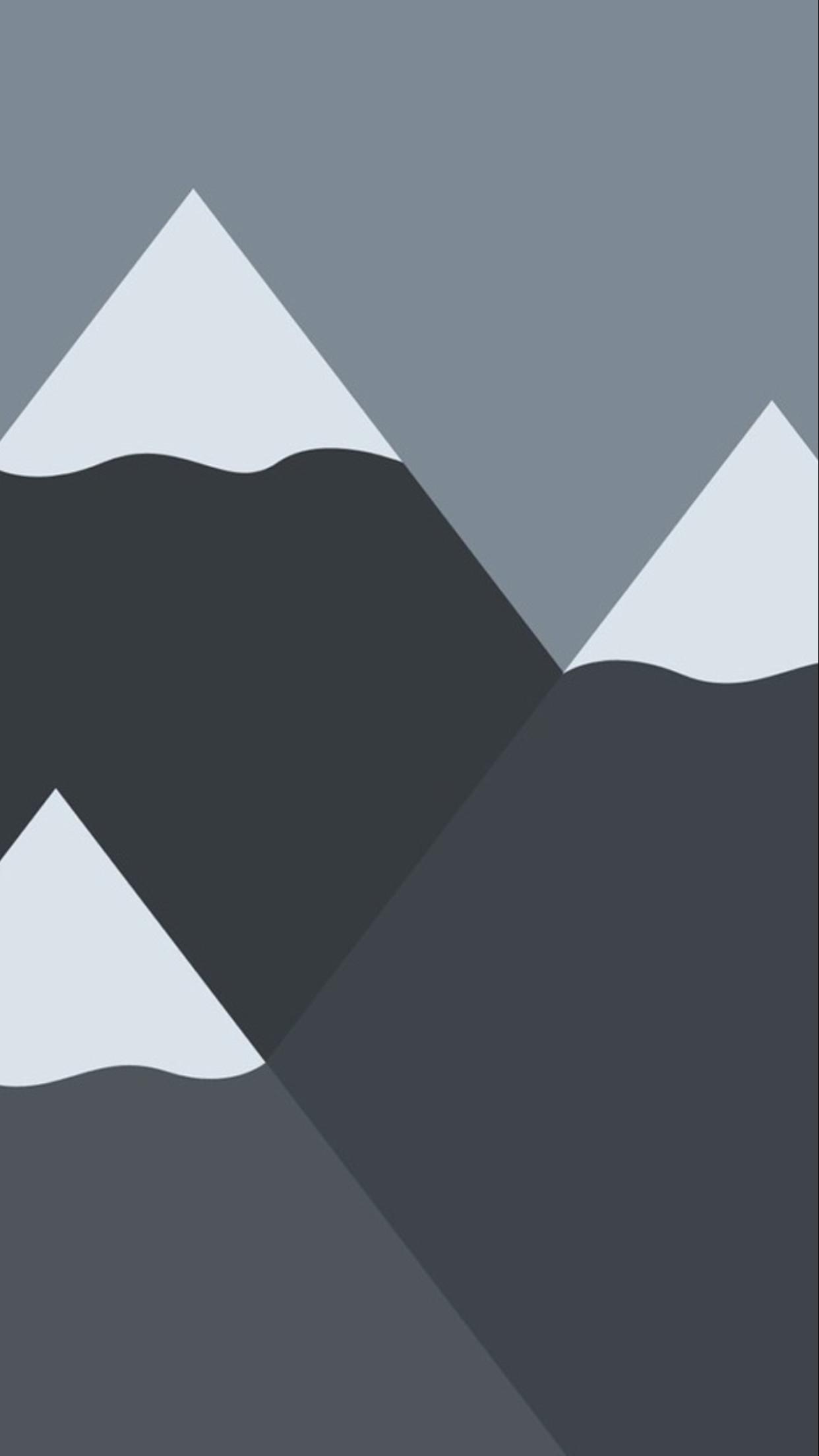 Mountains Minimal Wallpaper iPhone 6 Plus. Black shapes