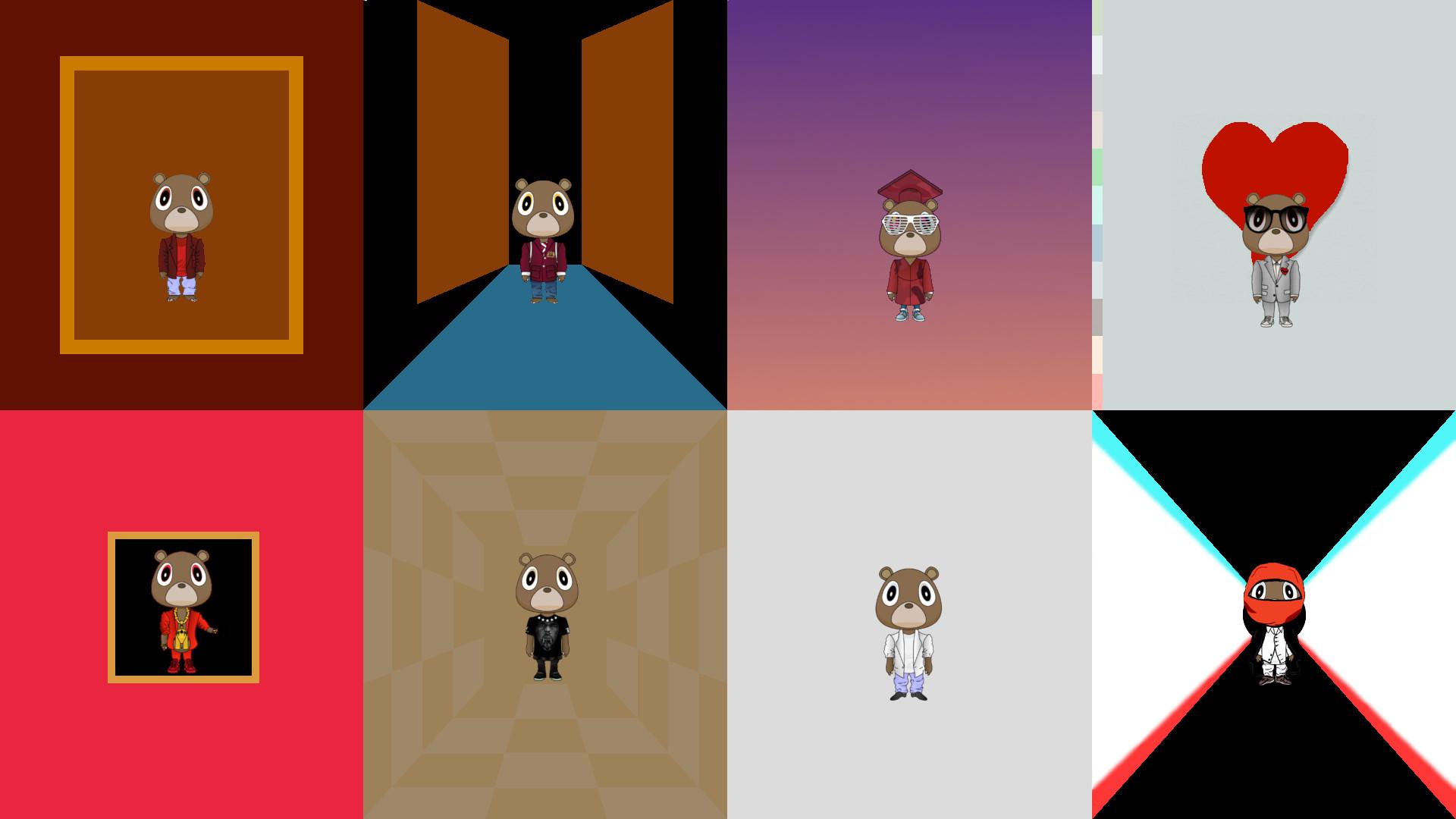 Kanye Bears on Minimalist Album Covers …