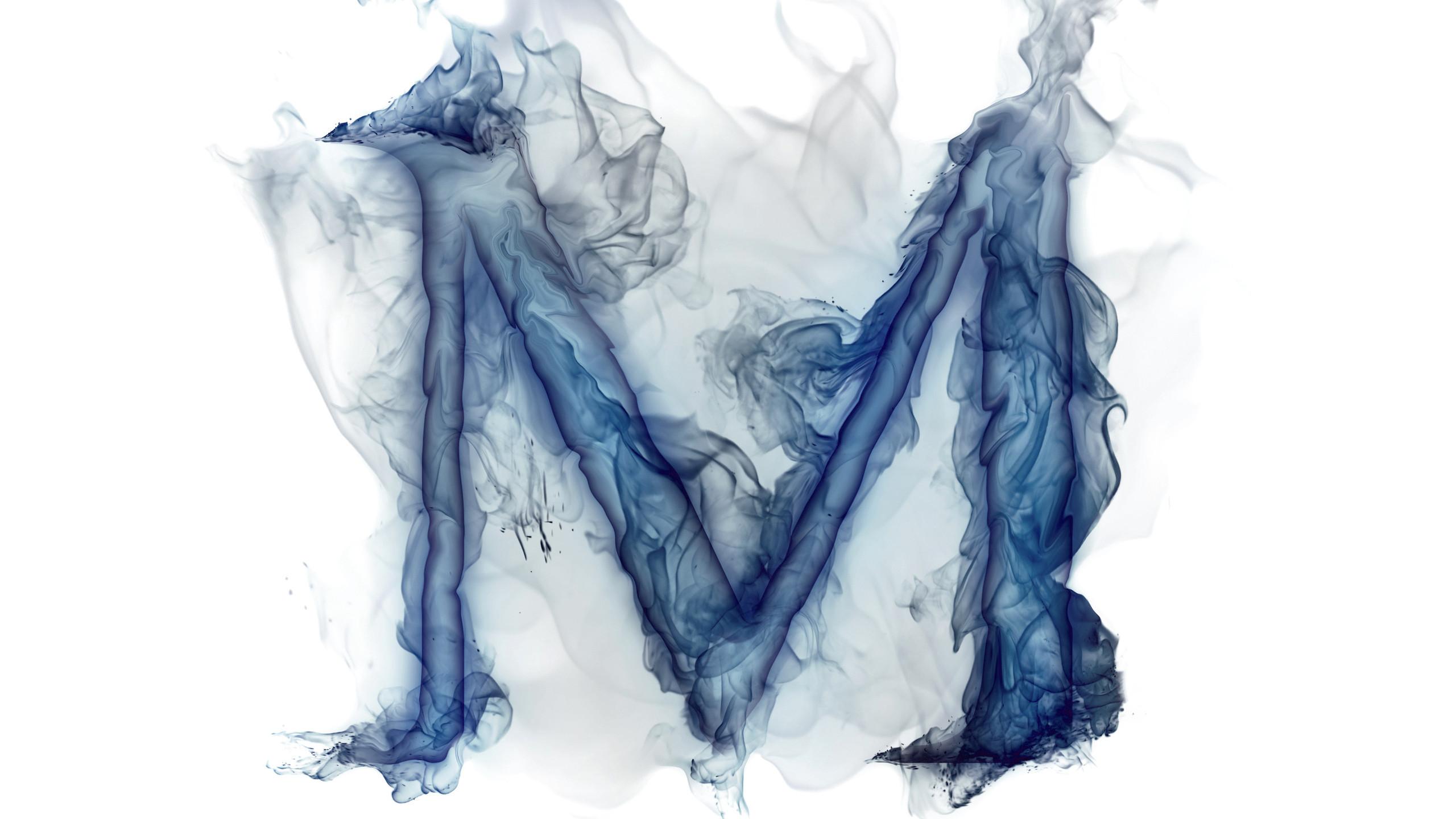 letter, m, gas, smoke, letter wallpaper