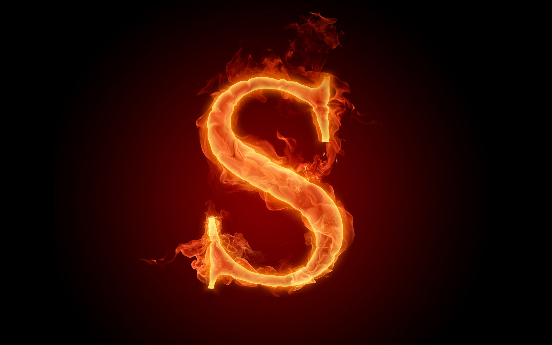 HD Wallpapers The fiery English alphabet picture R