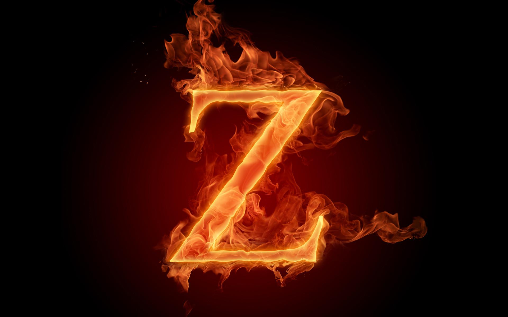 Wallpaper z, letter, flame, letter, fire alphabet