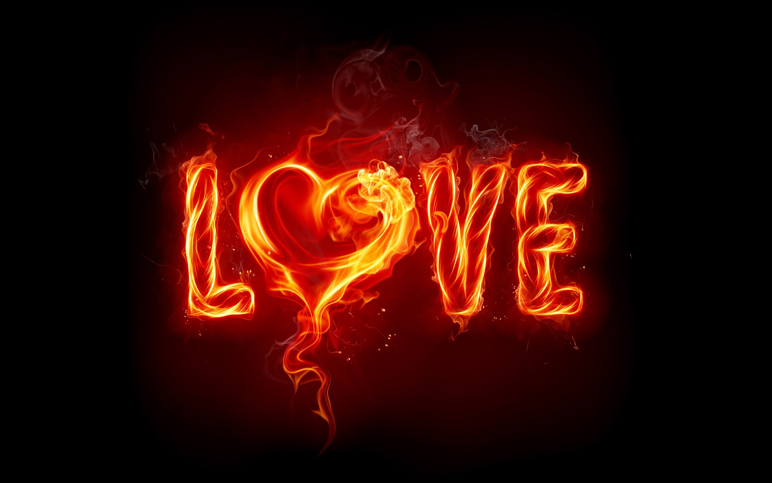 Love Fire Wallpaper Valentines Day Holidays