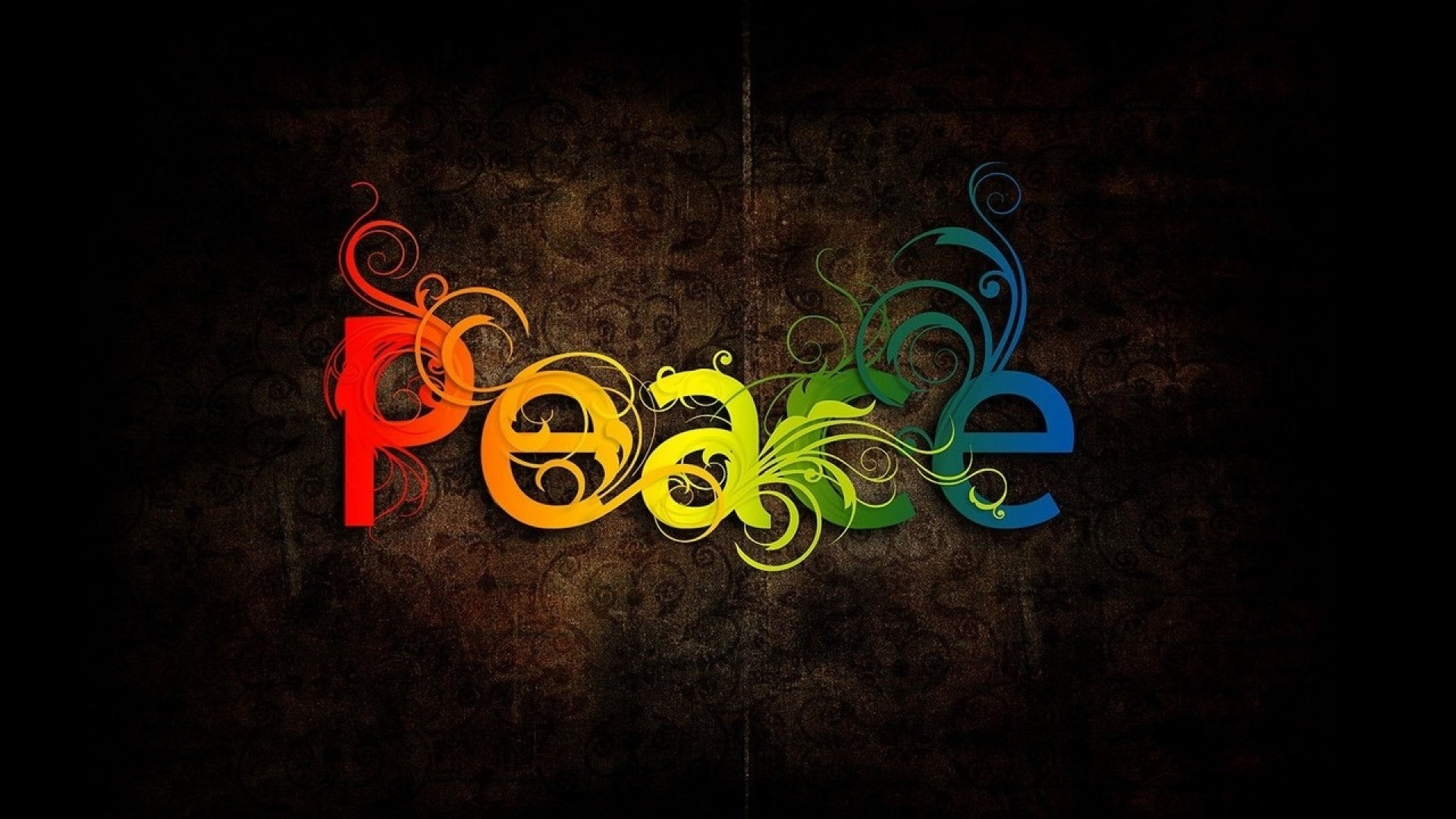 Colorful Peace Wallpaper Wide