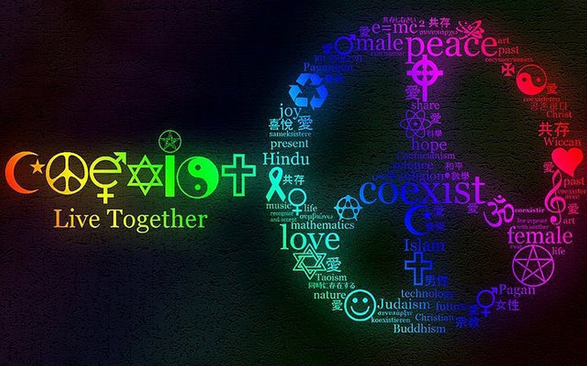 Live Together Peace Wallpaper