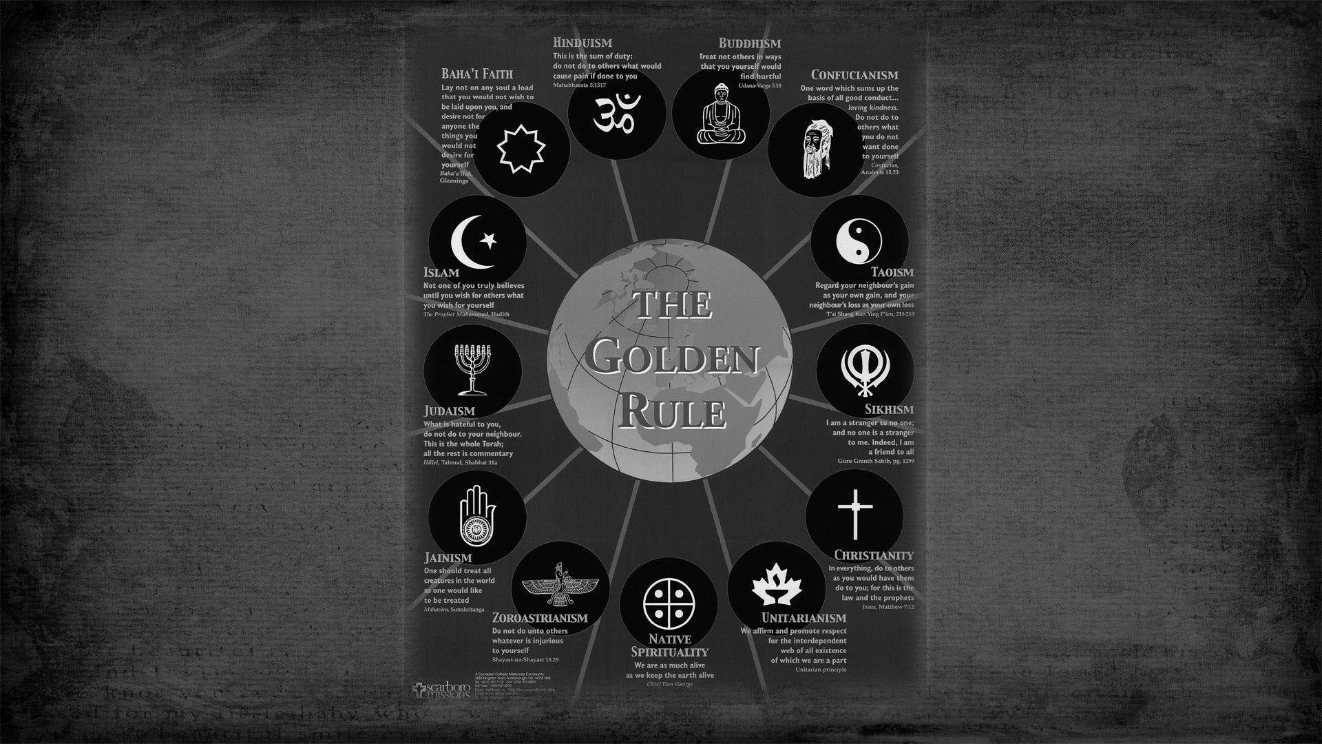 The golden rules of religions wallpaper – 745387