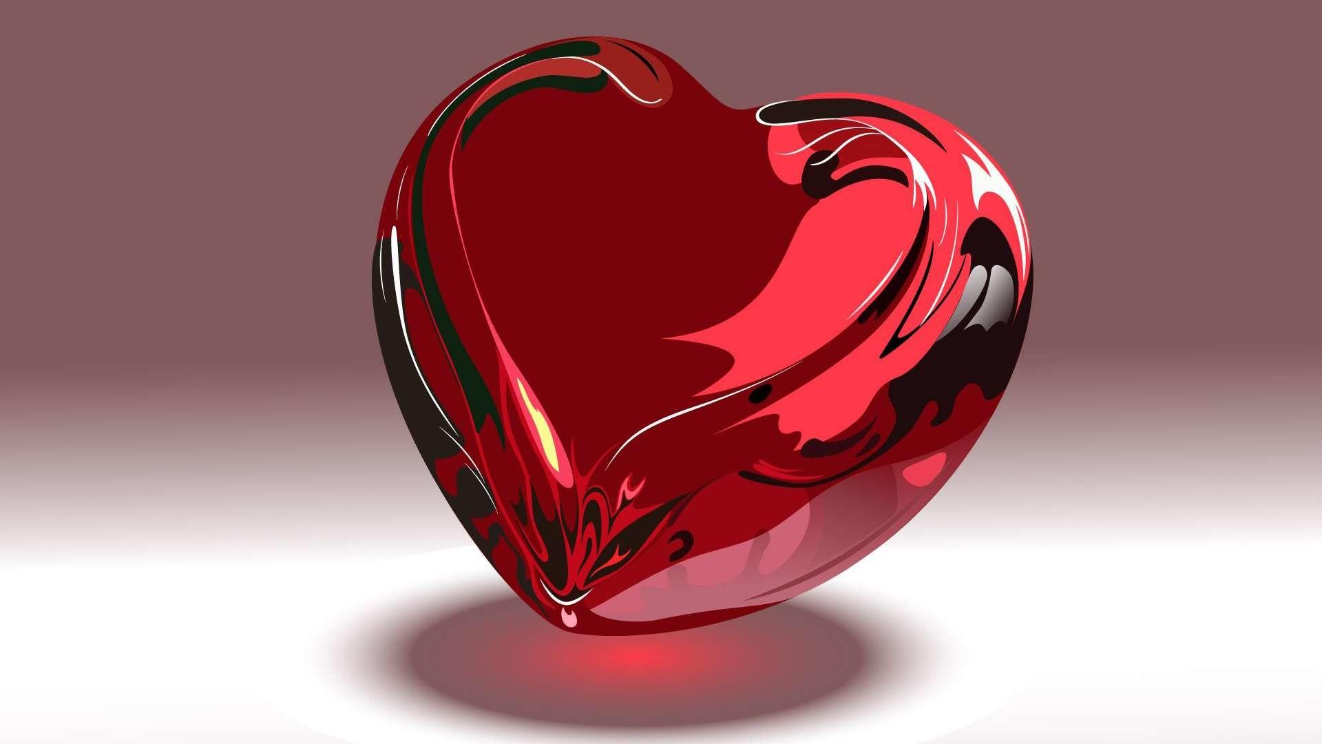 3D Heart 3D Heart HD Wallpaper