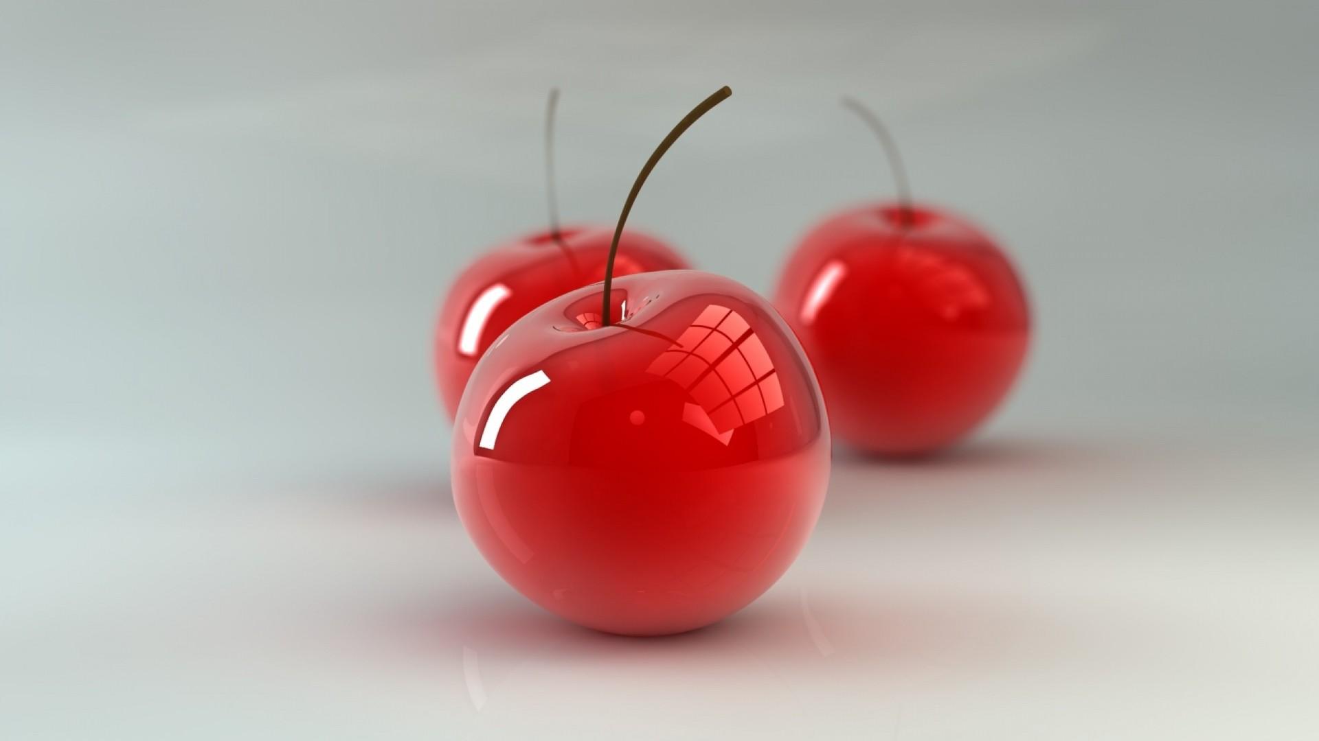 Wallpaper cherry, berry, 3d