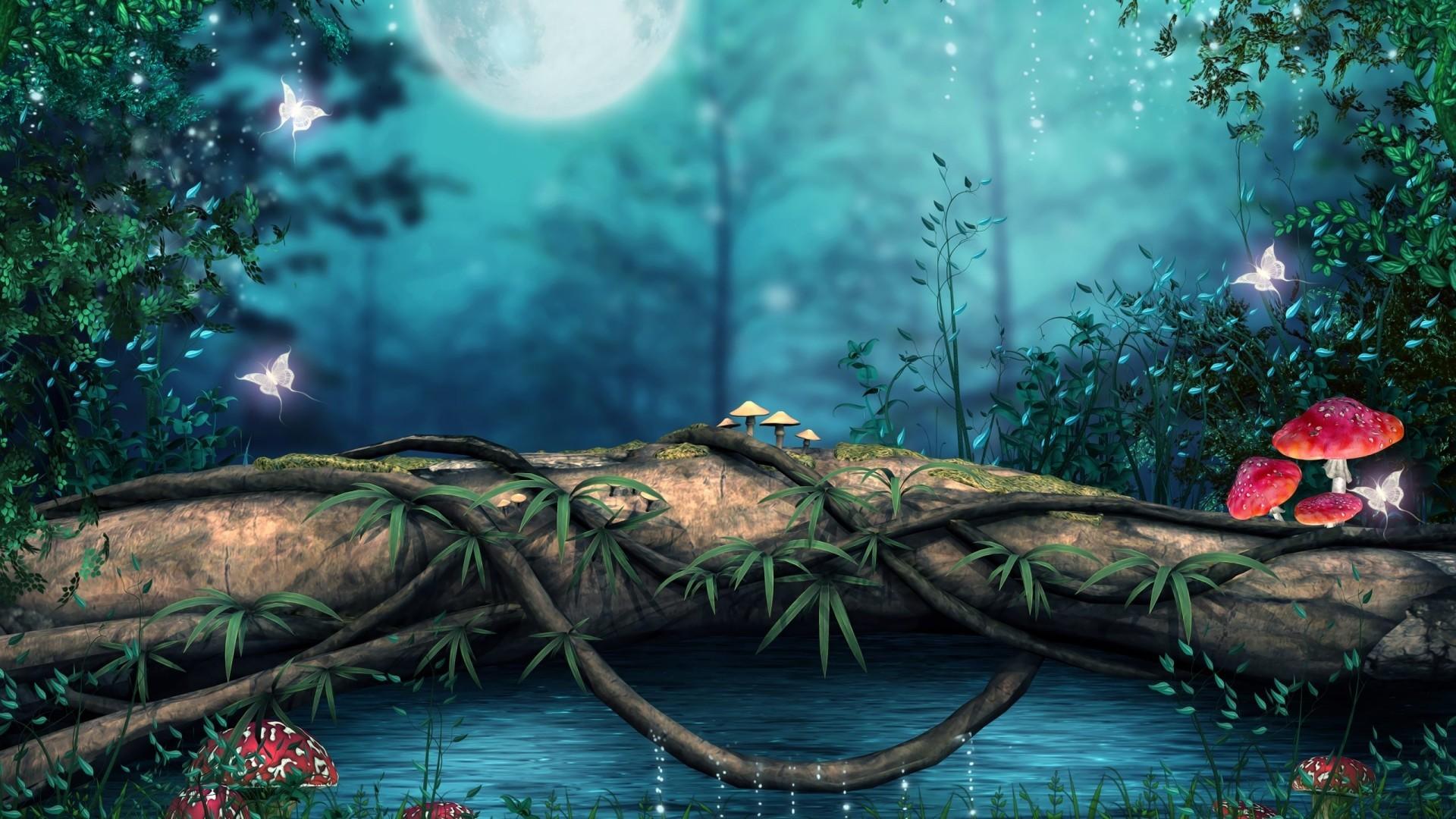 Nature Forest 3D Landscape Wallpaper