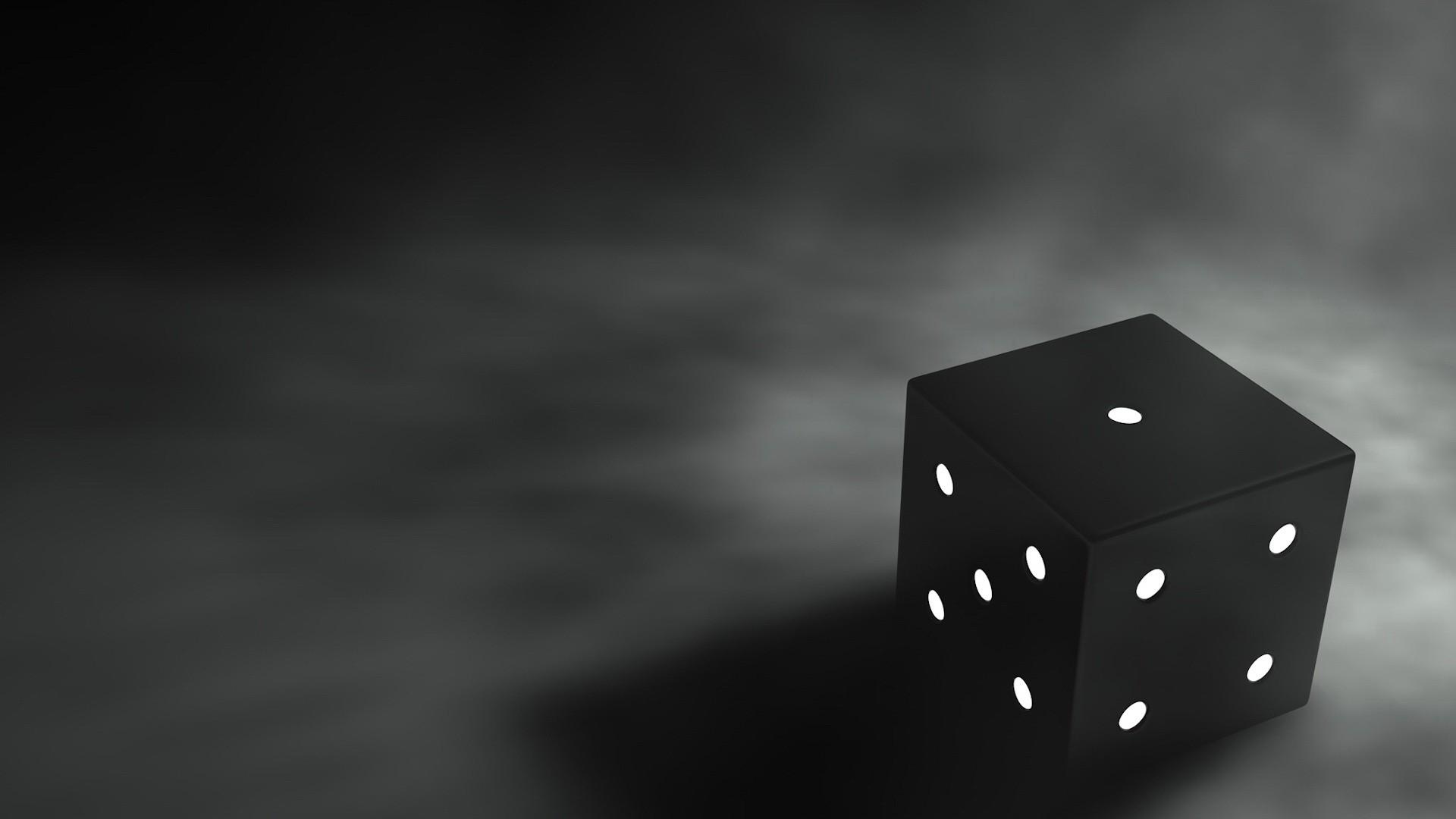 Wallpaper cube, 3d, graphics, black, gray background, 3d graphics