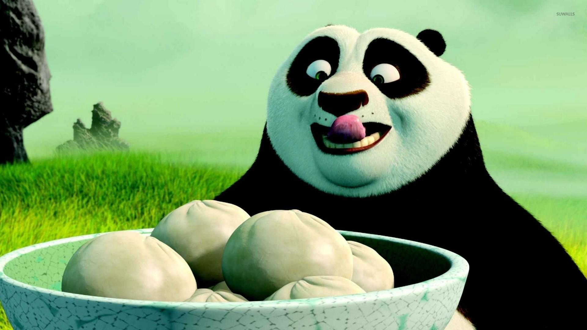 Po having dumplings – Kung Fu Panda wallpaper
