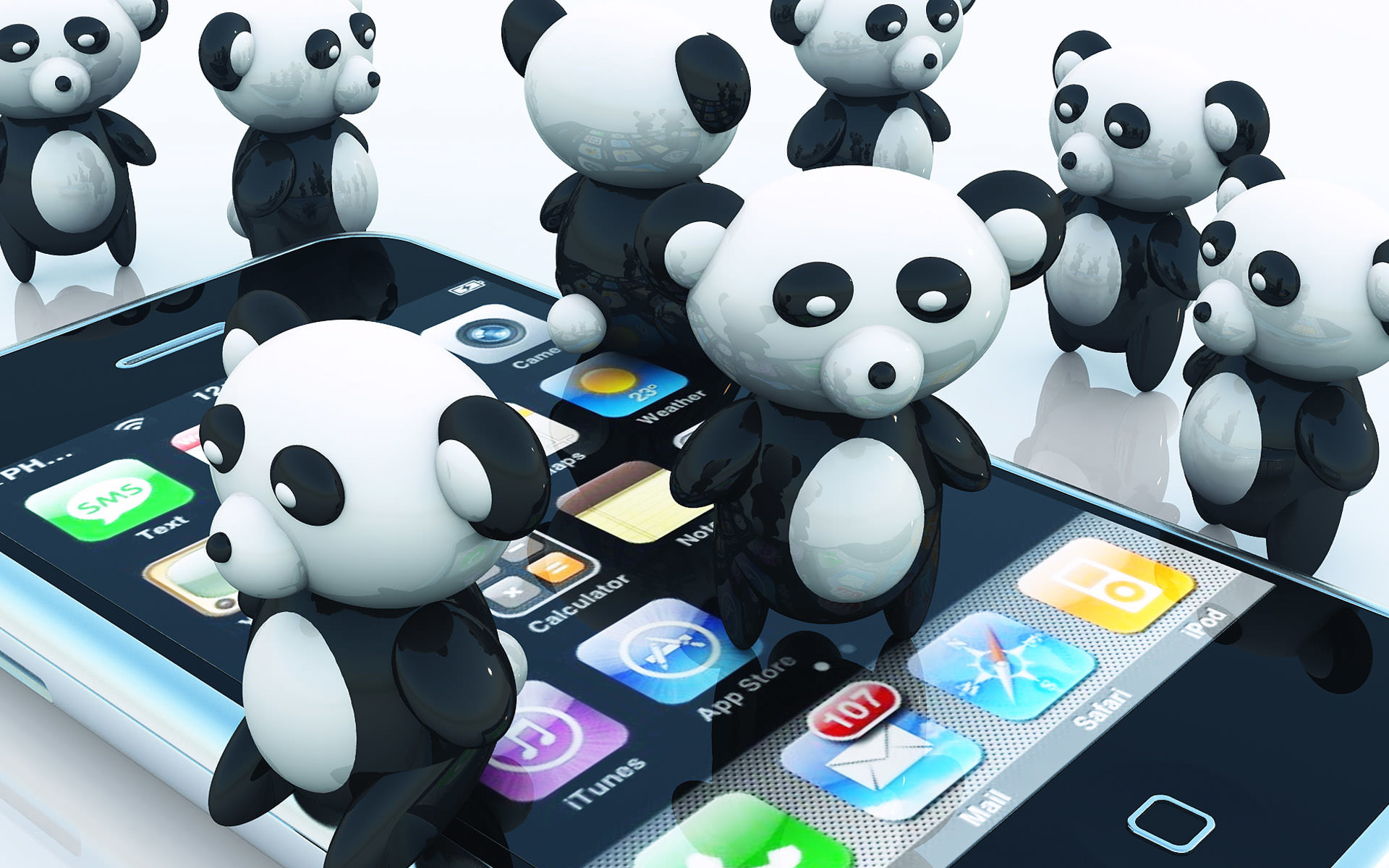 Animated panda bear wallpaper – photo#26