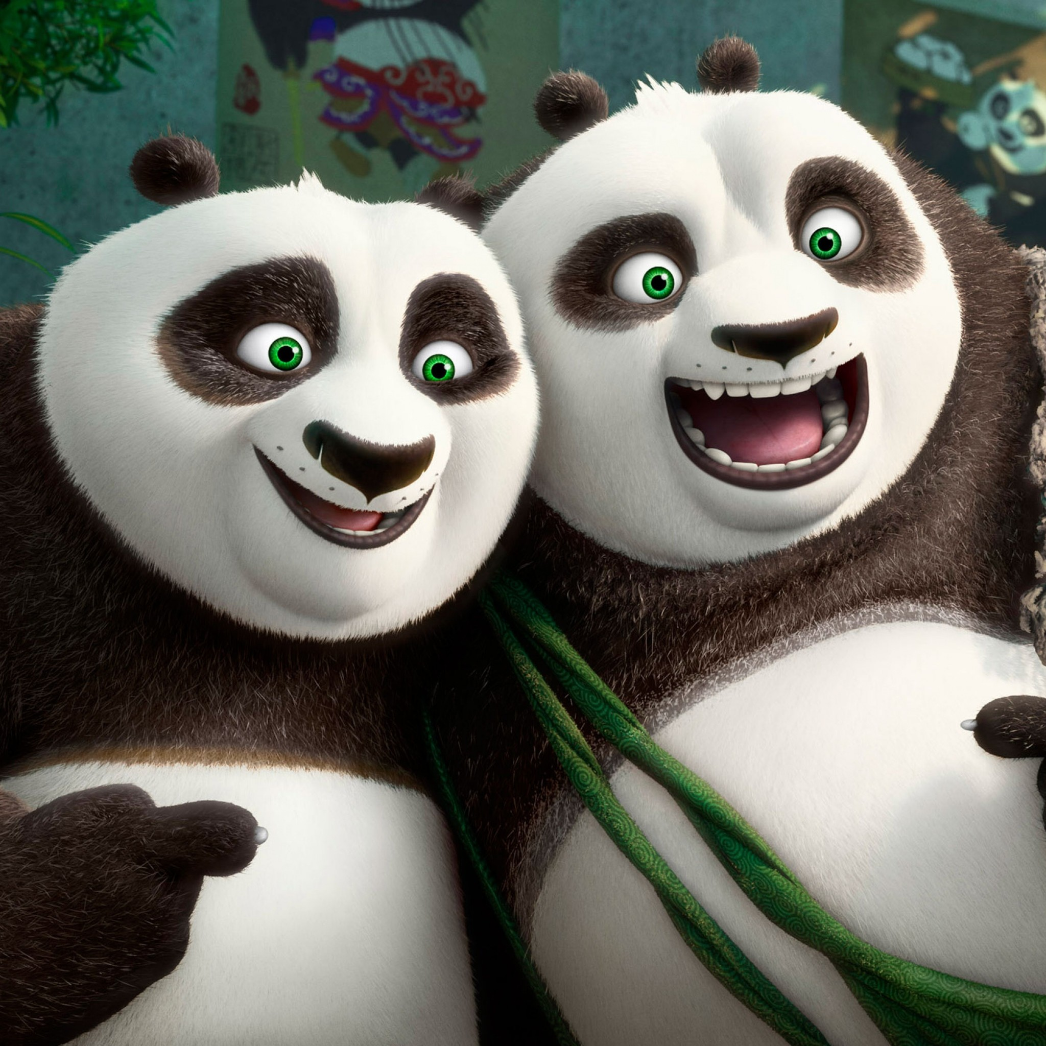 Preview wallpaper kung fu panda 3, panda, emotions 2048×2048