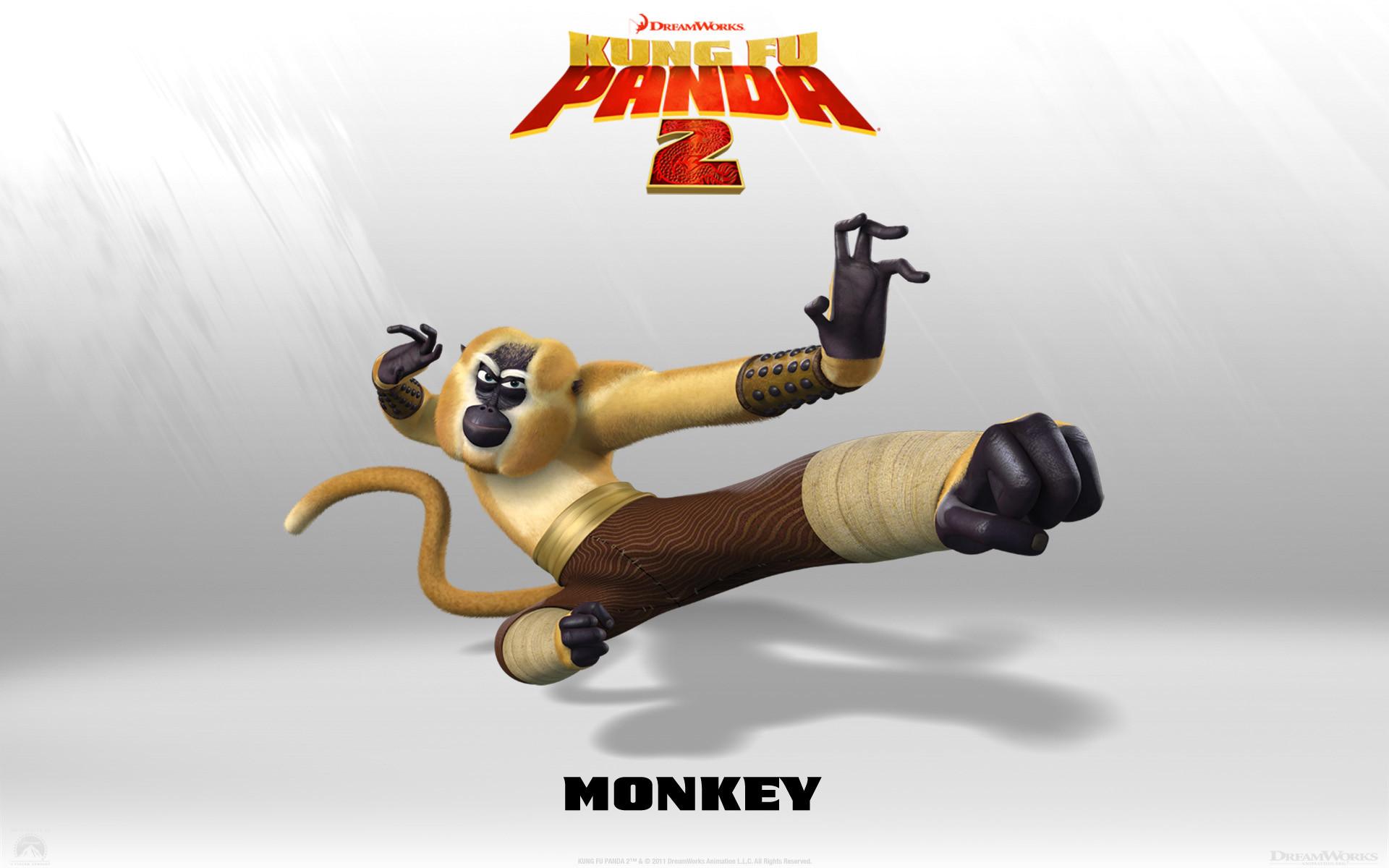 Monkey from Kung Fu Panda 2 Dreamworks CG animated movie wallpaper