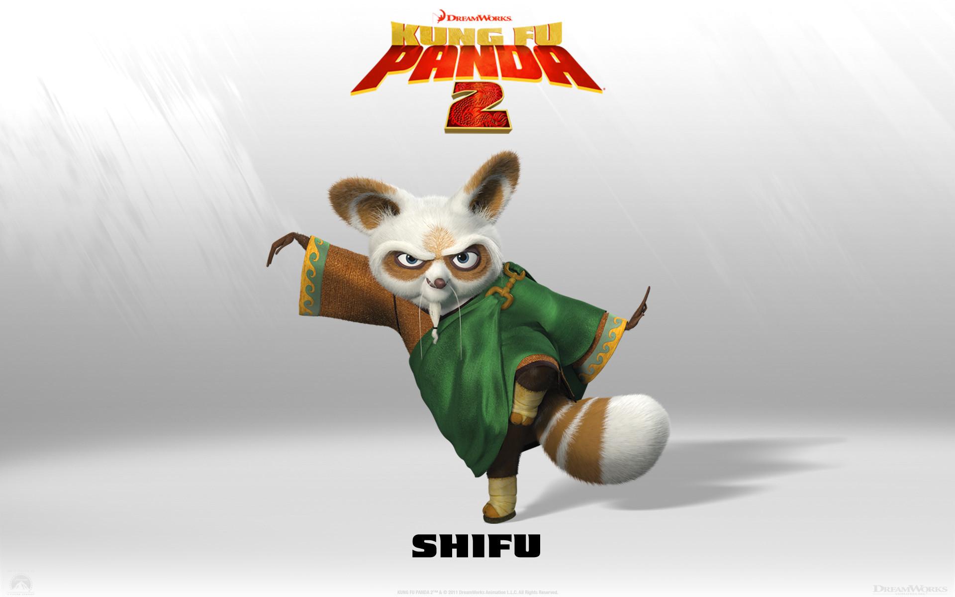 Master Shifu from Kung Fu Panda 2 Dreamworks CG animated movie wallpaper