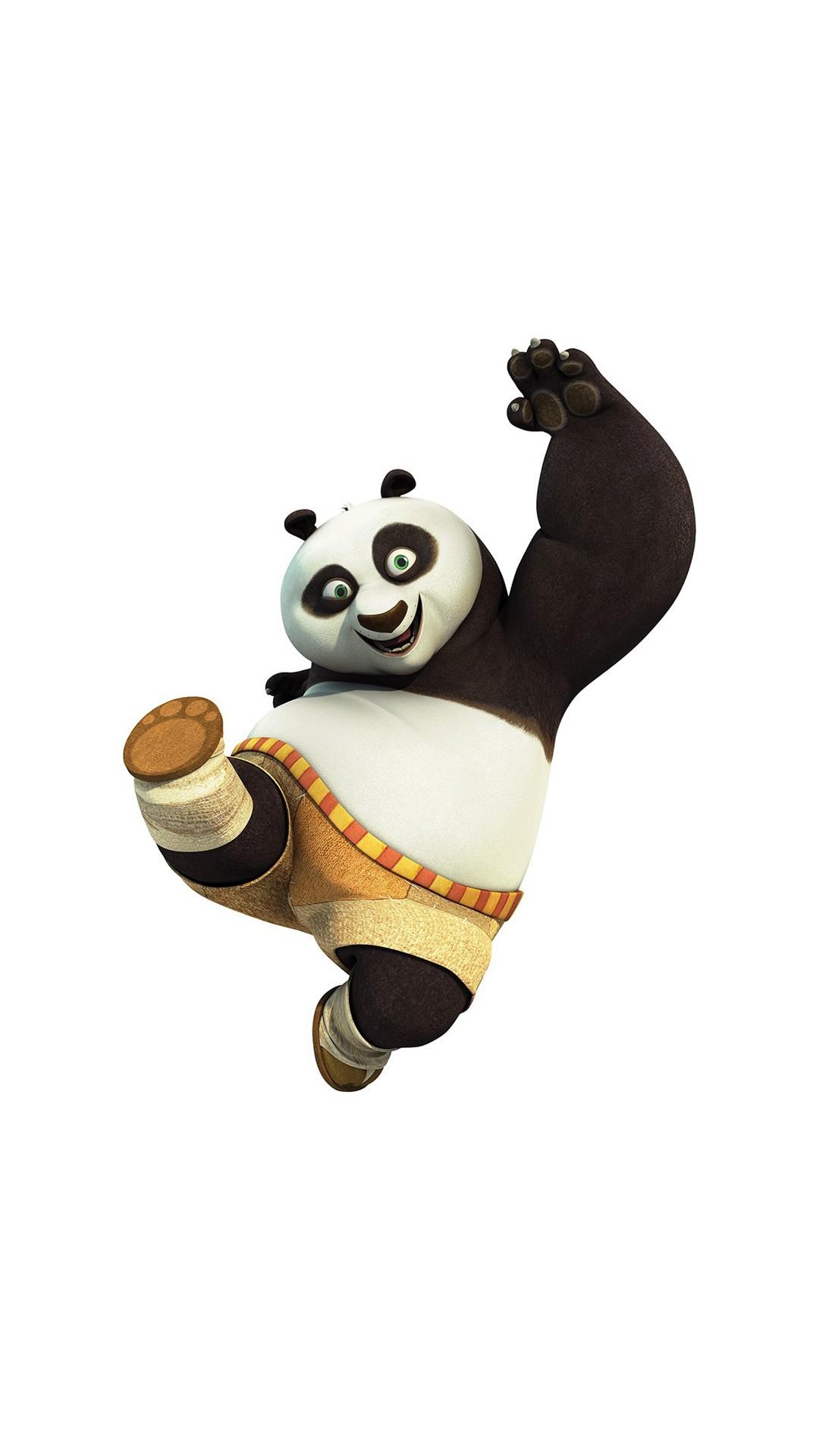Kungfu Panda Animal Dreamworks Kick Cute Anime #iPhone #6 #plus #wallpaper