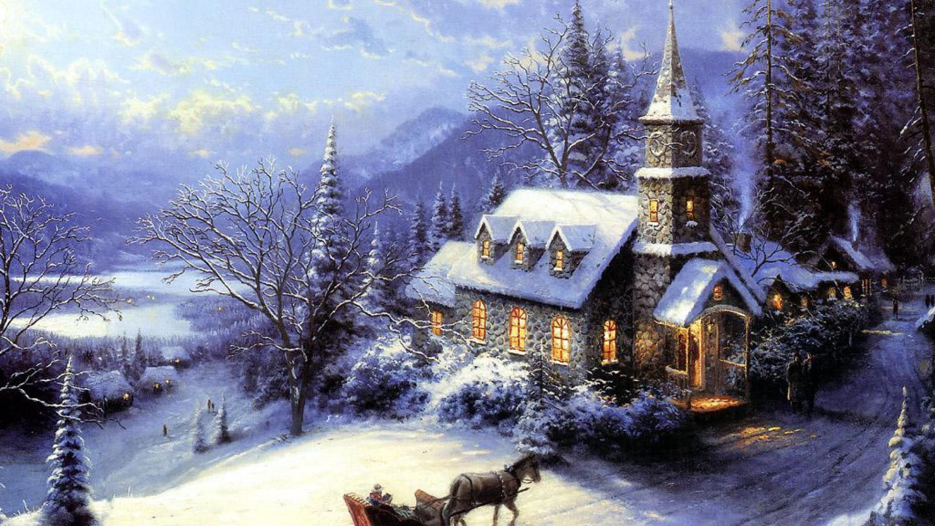 Christmas Winter 1080p Hd Wallpaper