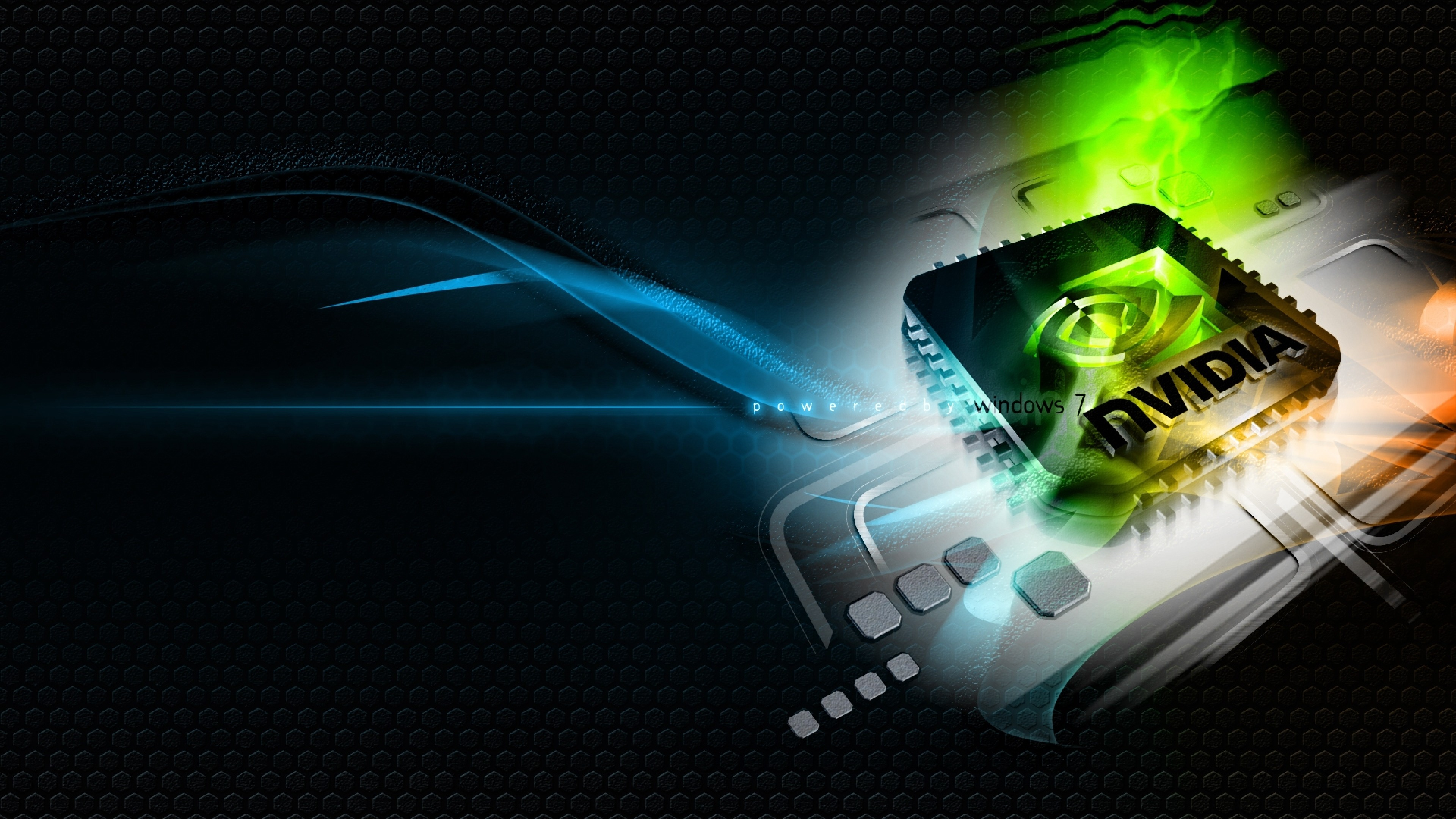 Preview wallpaper nvidia, green, blue, white, chip 3840×2160