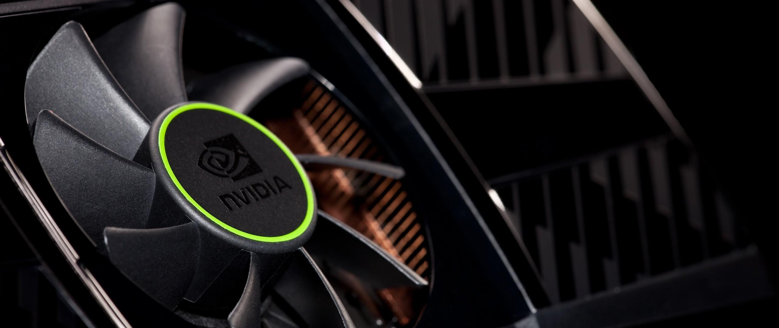 Preview wallpaper nvidia, company, vga, cooler, black, green 2560×1080