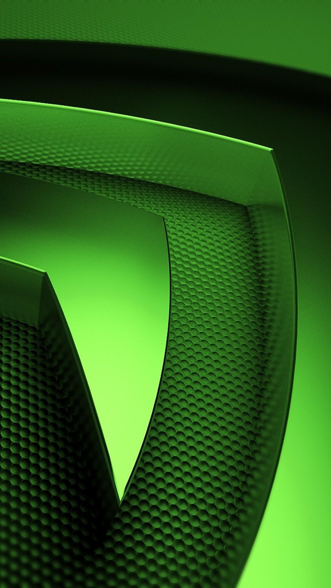 Preview wallpaper nvidia, green, symbol 1080×1920