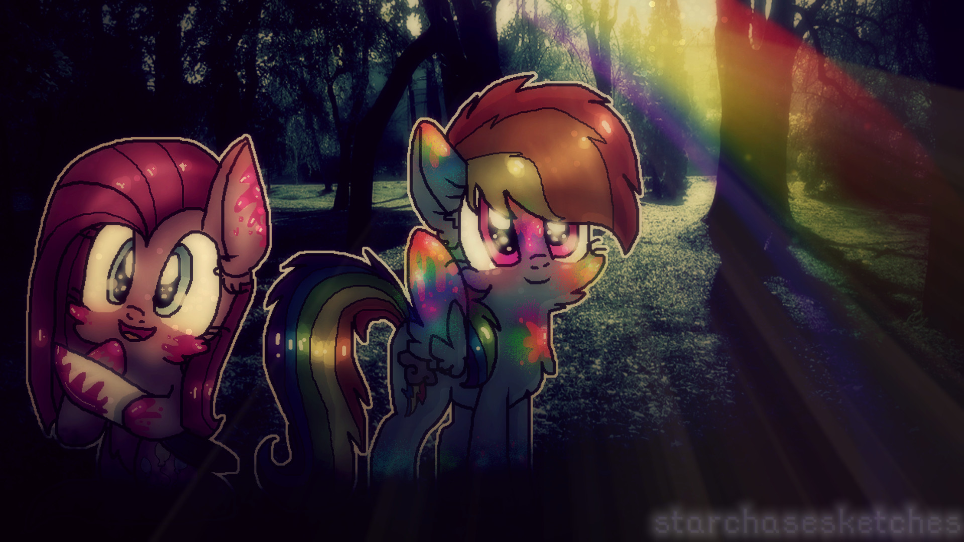 Creepy but cute ( Wallpaper ) : . by StarChaseSketches on .