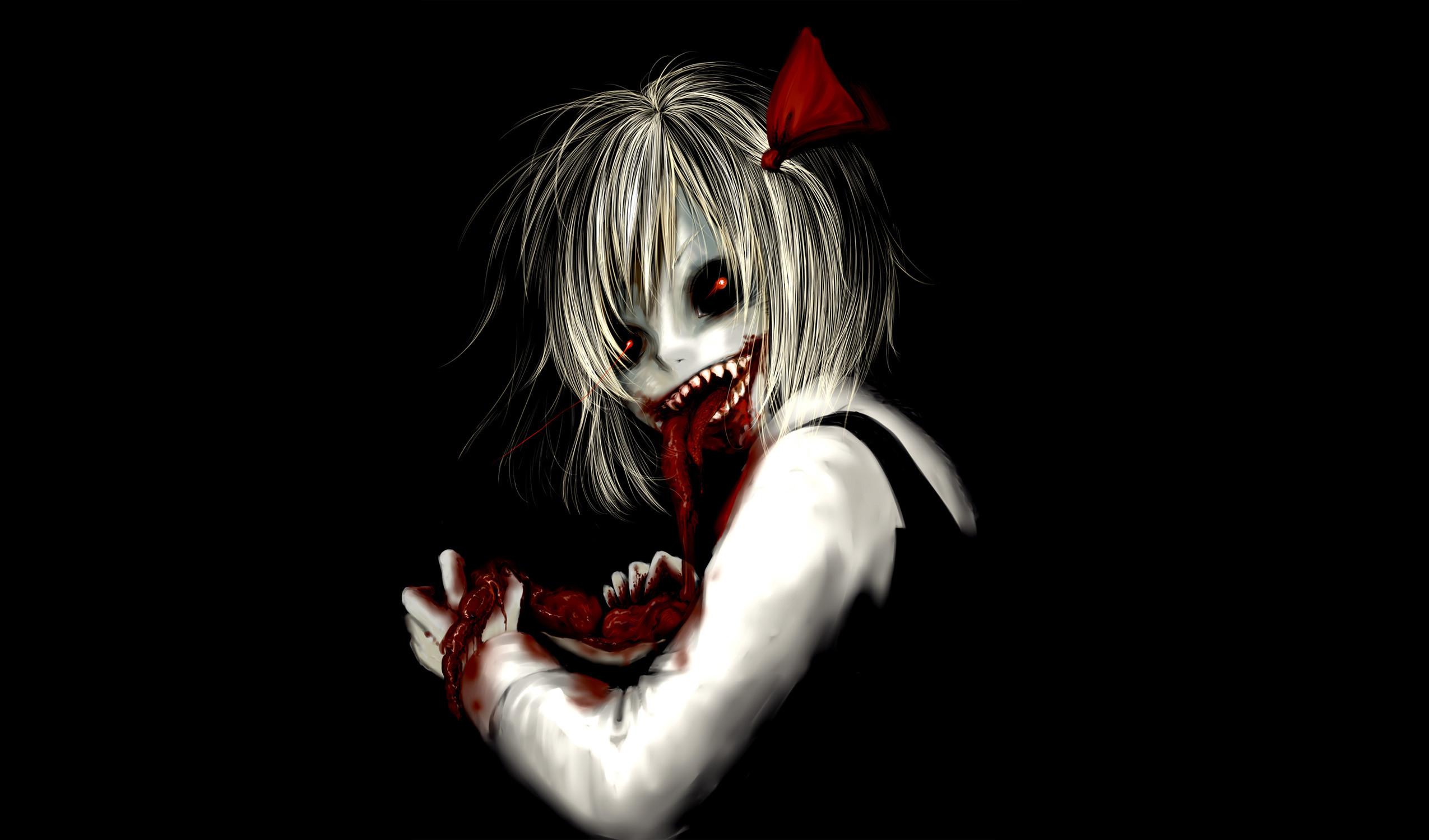 Dark Horror Anime Macabre Blood Guts Evil Girl Best Wallpapers .