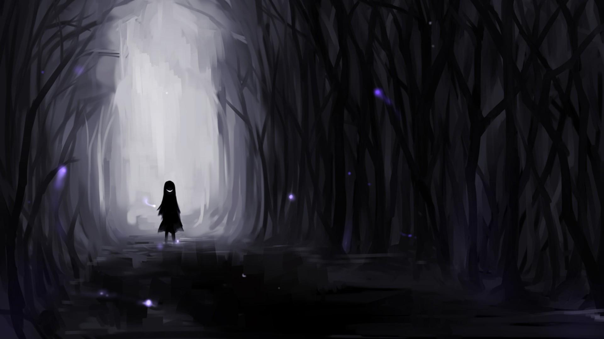 Creepy Dark Wallpaper Creepy, Dark, Forest, Evil, Smiles .