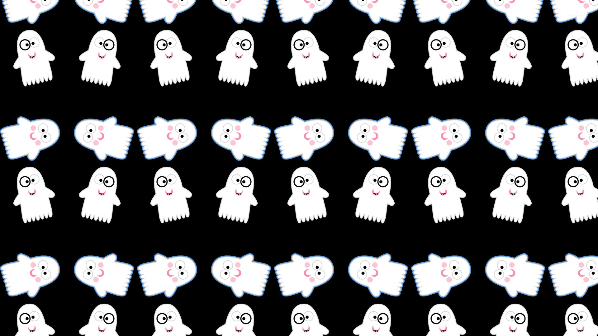 Cute ghost pattern wallpaper – Holiday wallpapers – #24315