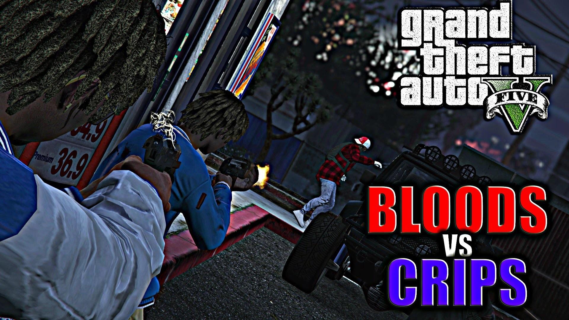 GTA 5   BLOODS VS CRIPS #12 [HD]