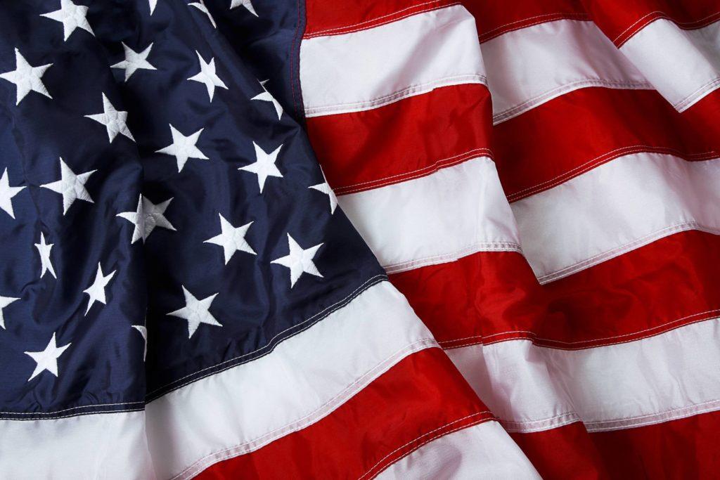 Coast Federation of Educators   American flag background – shot .