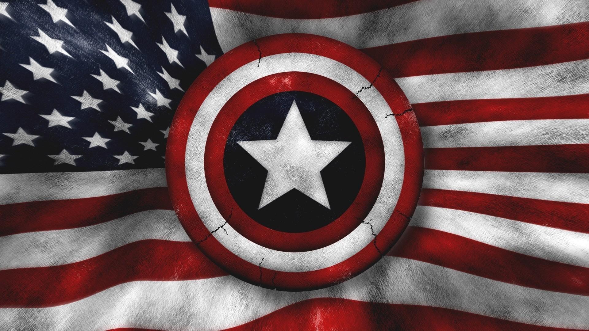 American Flag HD Background / 1920×1080