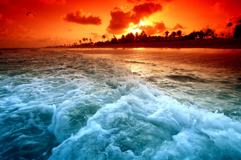 Earth – Sunset Wave Beach Dream Wallpaper