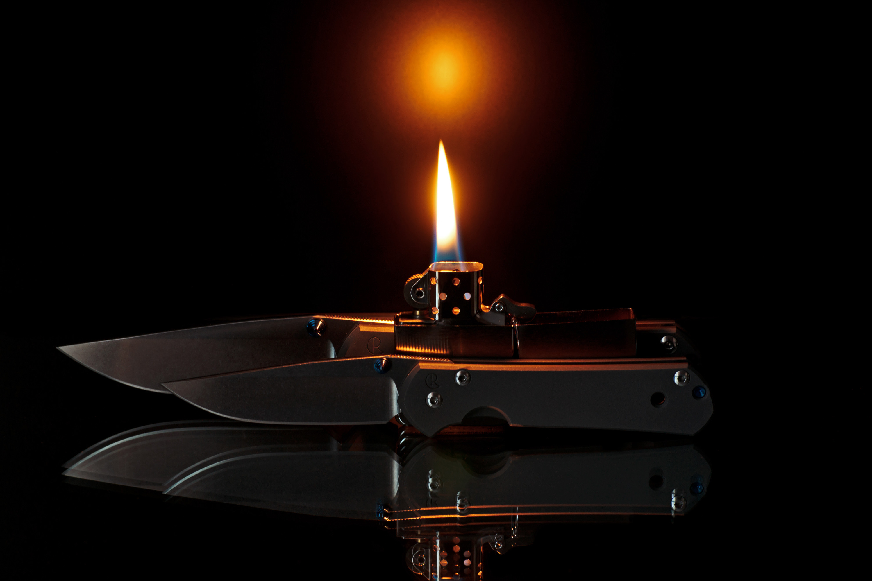 Photography – Fire Knife Sebenza Lighter Flame Wallpaper