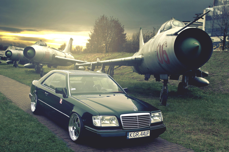 Vehicles – Mercedes-Benz Airplane Sunset Wallpaper