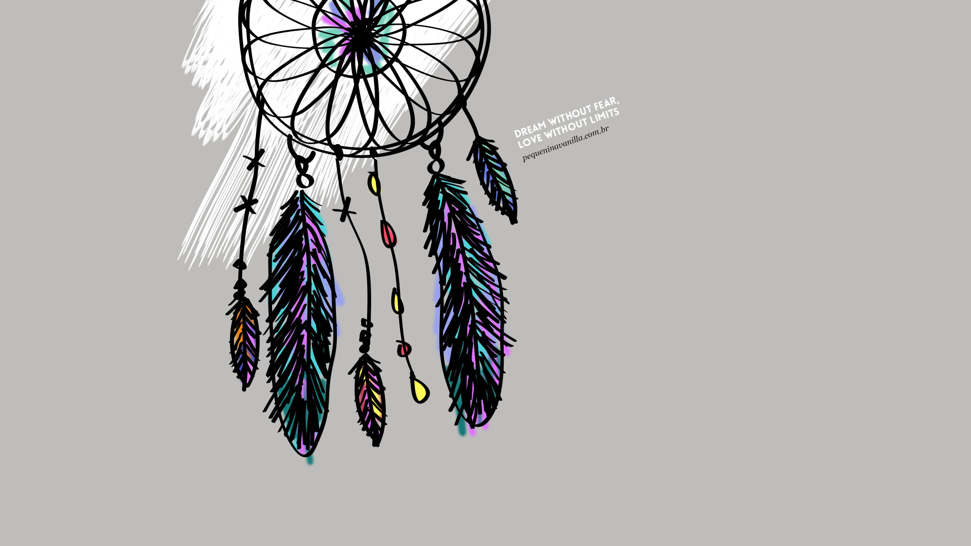Grey illustrated dreamcatcher Dream Love desktop wallpaper background |  iPhone and desktop wallpapers | Pinterest | Wallpaper backgrounds and  Wallpaper