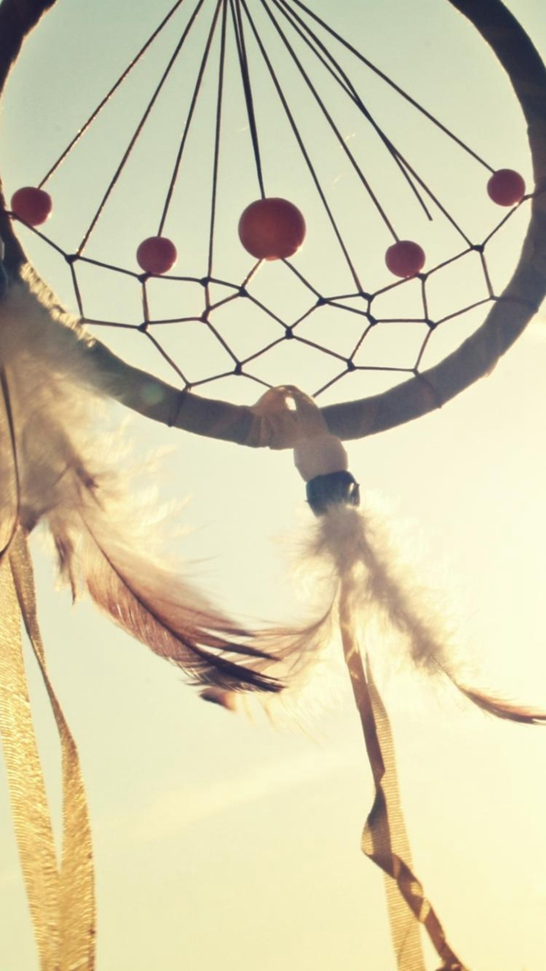 Abstract Macro Dreamcatcher Vintage Simple #iPhone #6 #plus #wallpaper