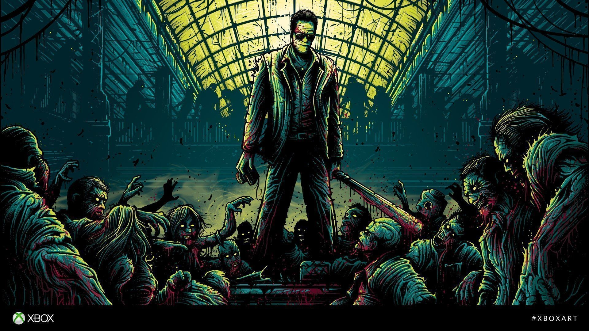 DanMumford-Zombie-Badass-Alone wallpaper