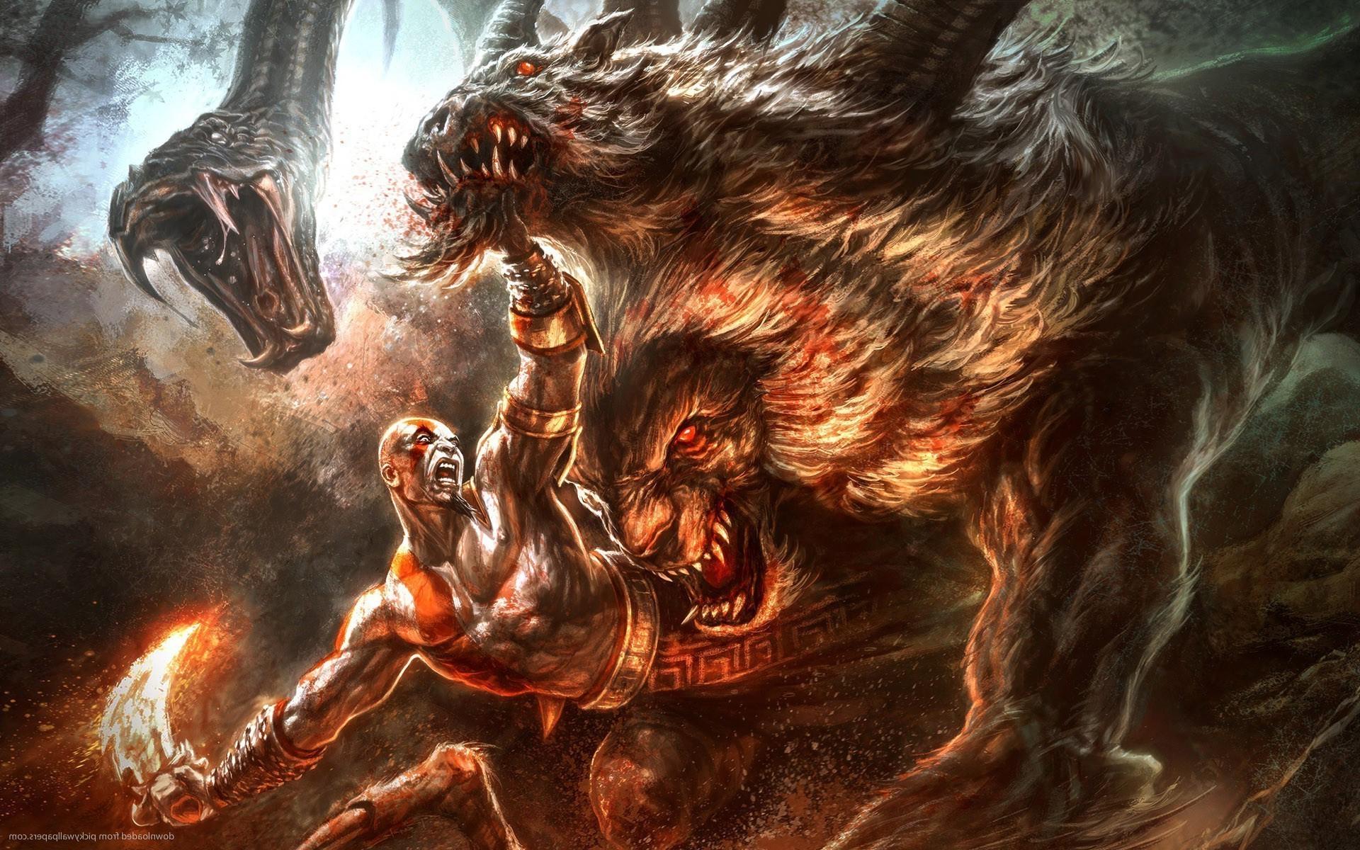 angry digital art fantasy art artwork ancient zeus lion snake sword chimera Wallpapers  HD / Desktop and Mobile Backgrounds