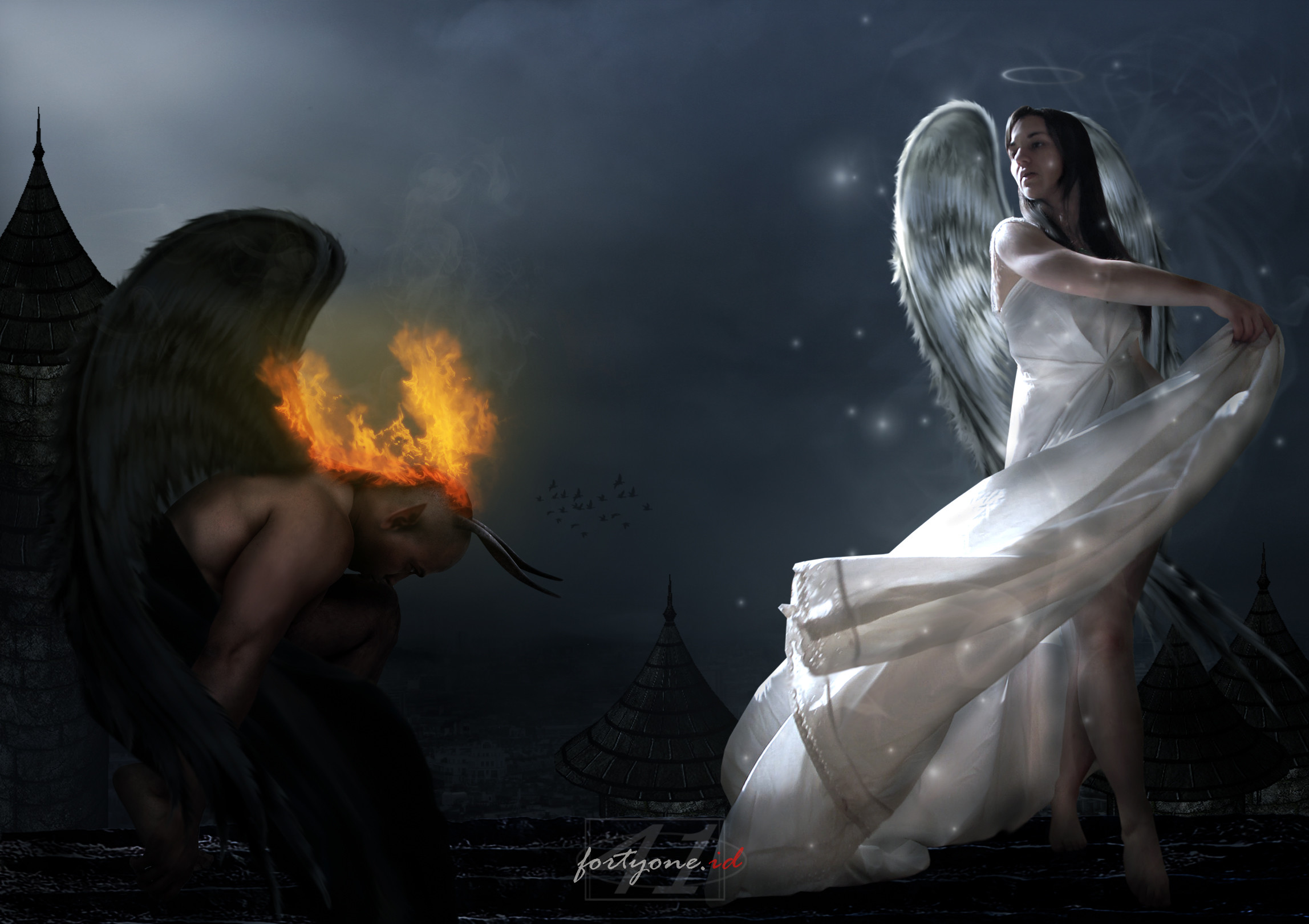 Demon and Angel wallpaper from Angels wallpapers