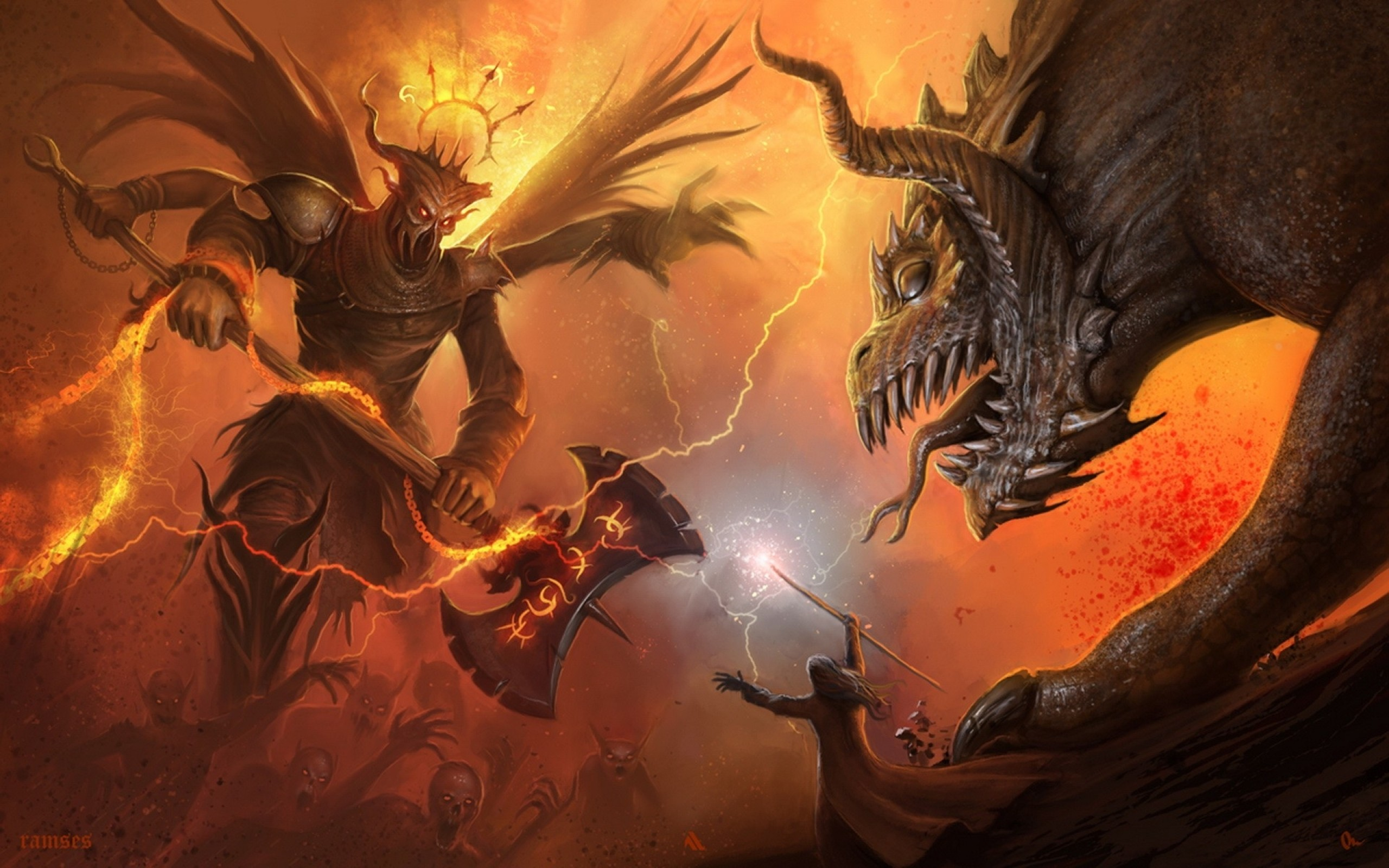 Demons And Angels Battle