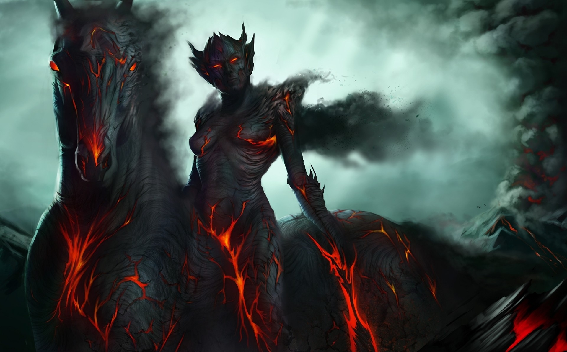 Fantasy Demon Horse Wallpaper