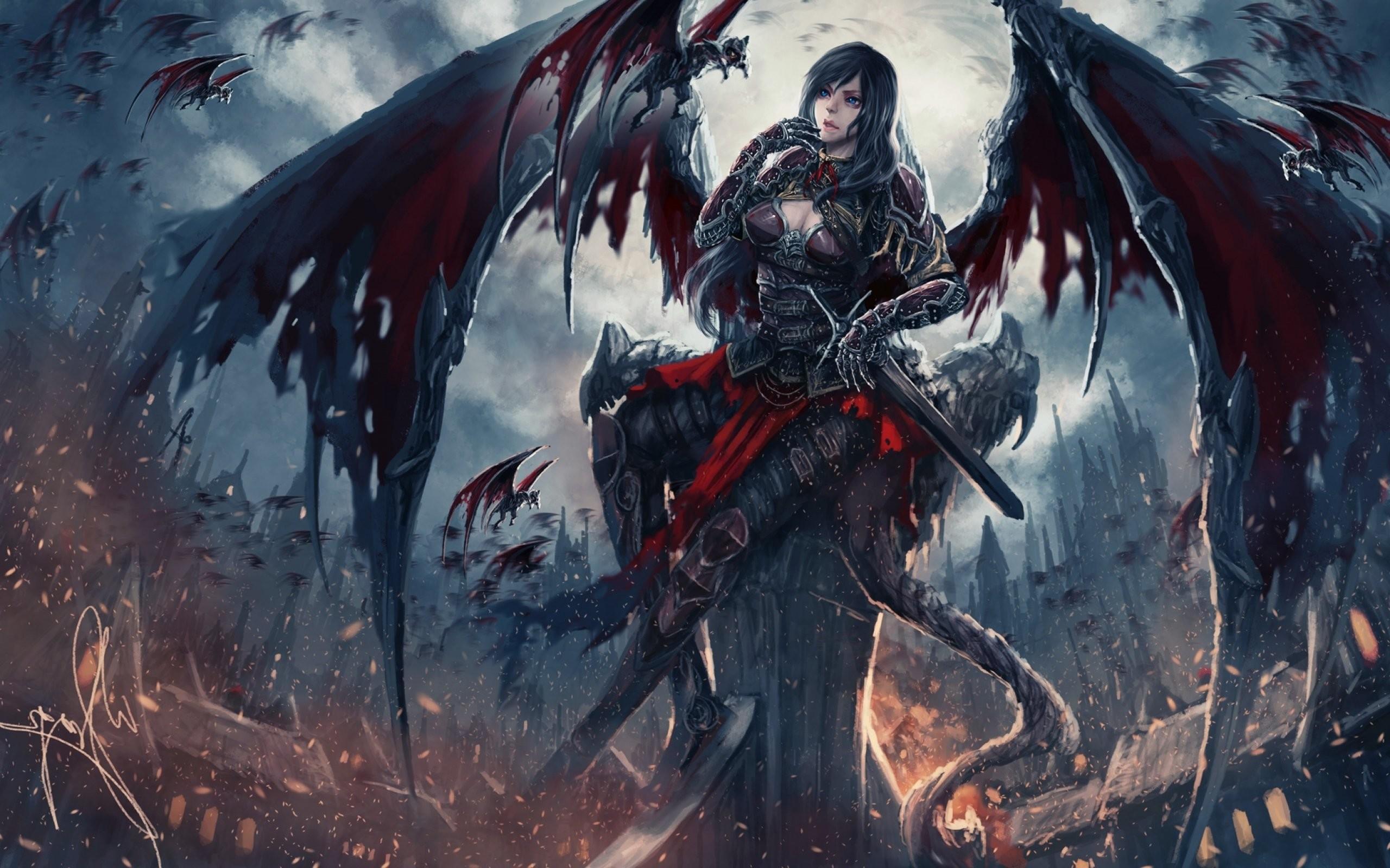Fantasy Art Artwork Demon Evil Angel Wallpaper At Dark Wallpapers