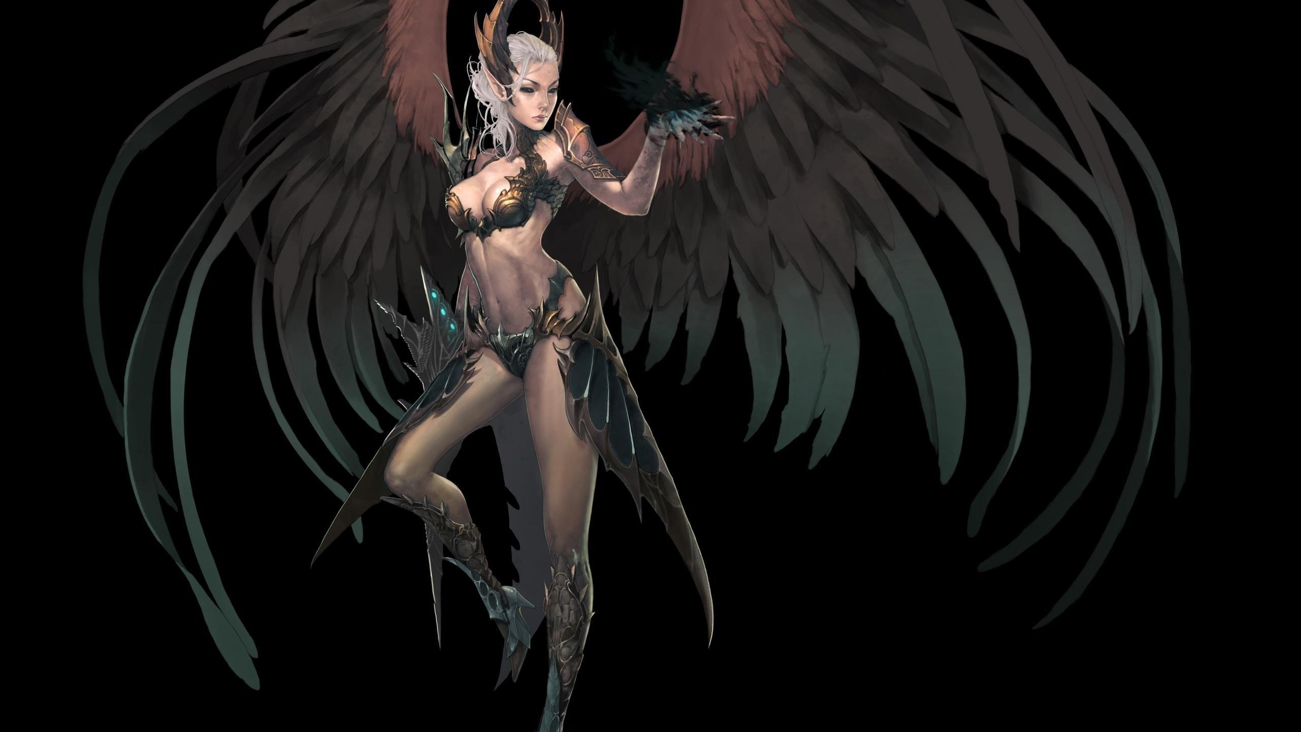 Dark Fantasy Angel Fallen Demon Original Wallpaper At Dark Wallpapers