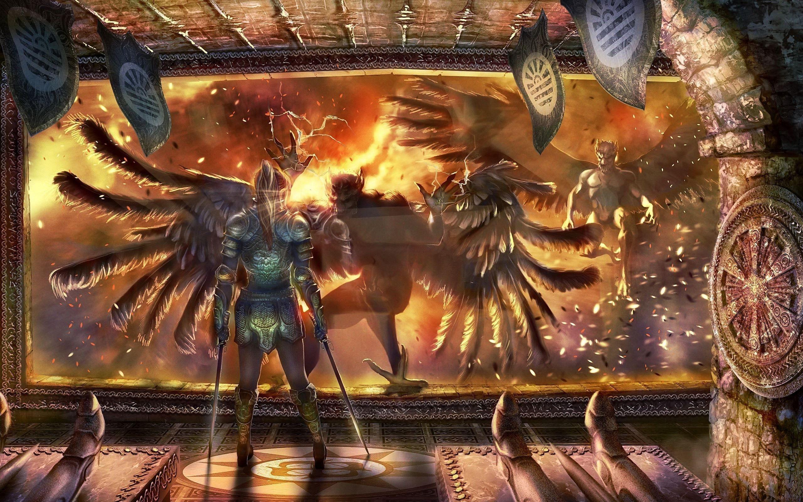 Angels VS Demons – Wallpaper – ImgPrix