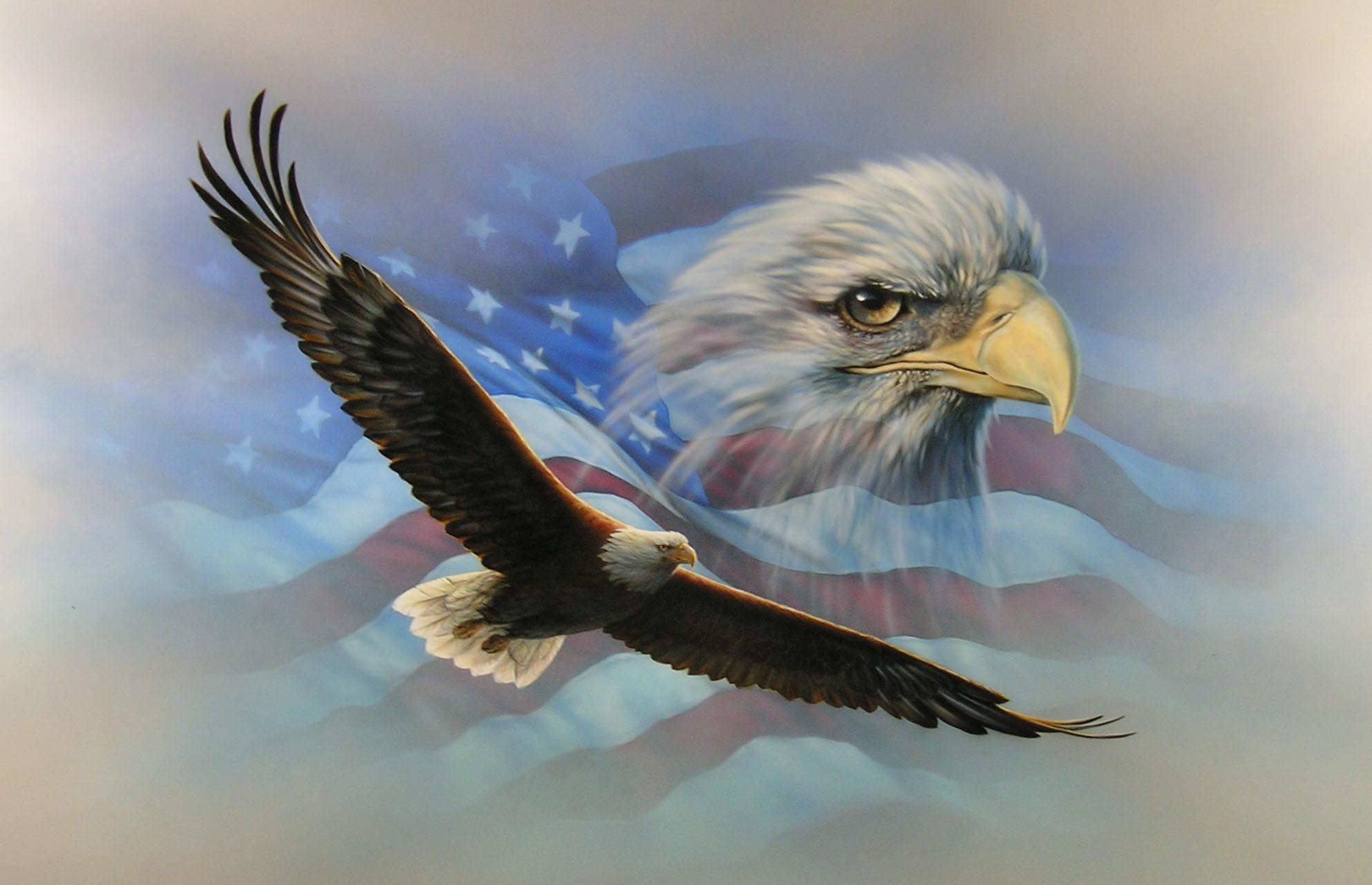 American Flag Eagle Wallpaper – HD Wallpapers