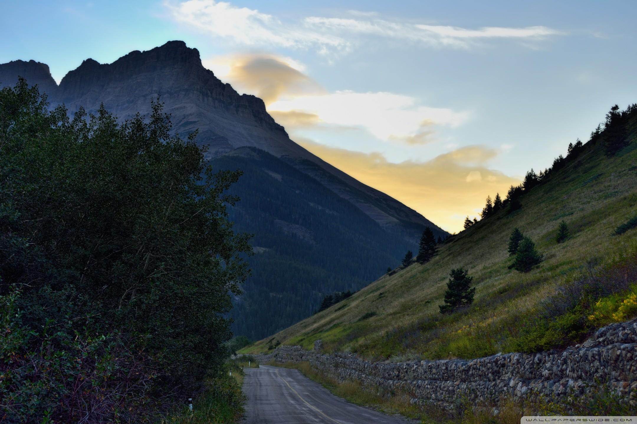 A Mountain Road HD desktop wallpaper : Widescreen : High .