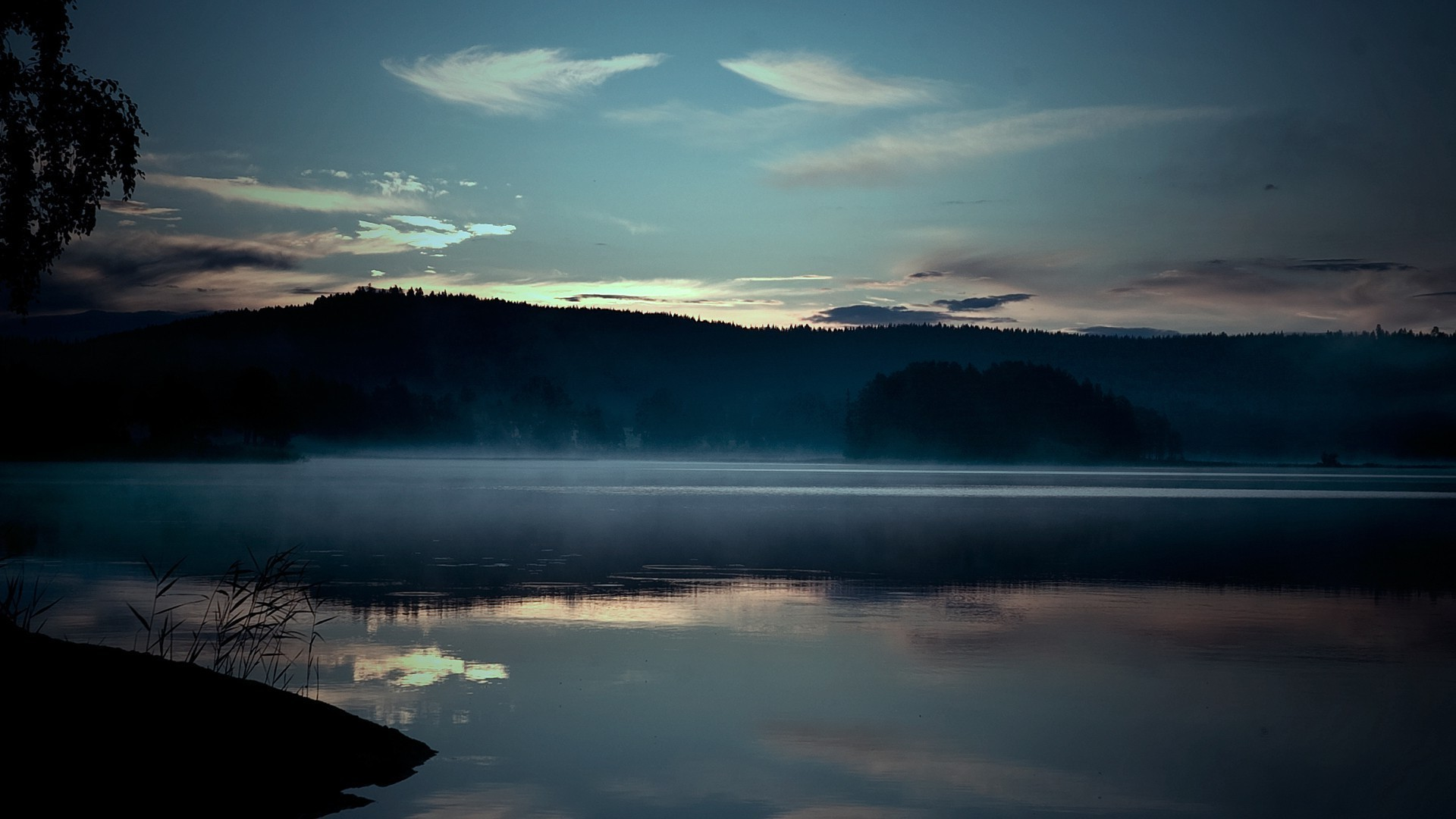 Misty Lake Surface HD wallpapers