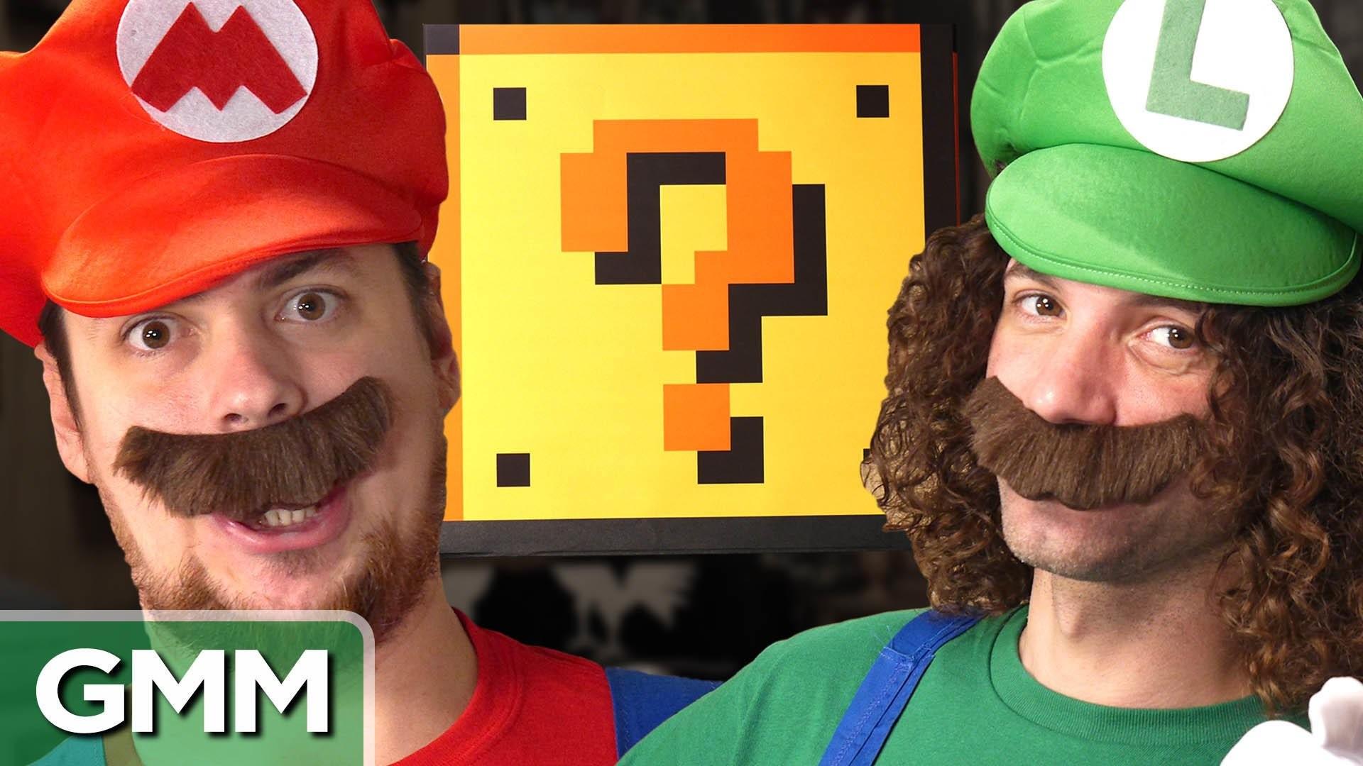 "Rhett & Link on Twitter: ""Today: Dan & Arin from @GameGrumps transform into  Mario & Luigi! #GMS https://t.co/7lt5cHcdG1 https://t.co/1geWBaHZGi"""