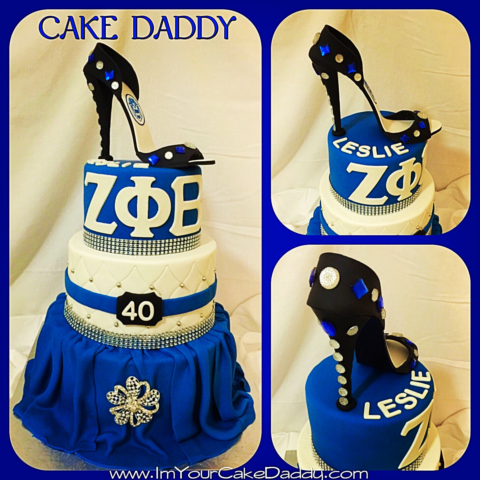 Zeta Phi Beta Custom Three Tiered Birthday Cake Sorority – Zeta phi beta  birthday cake