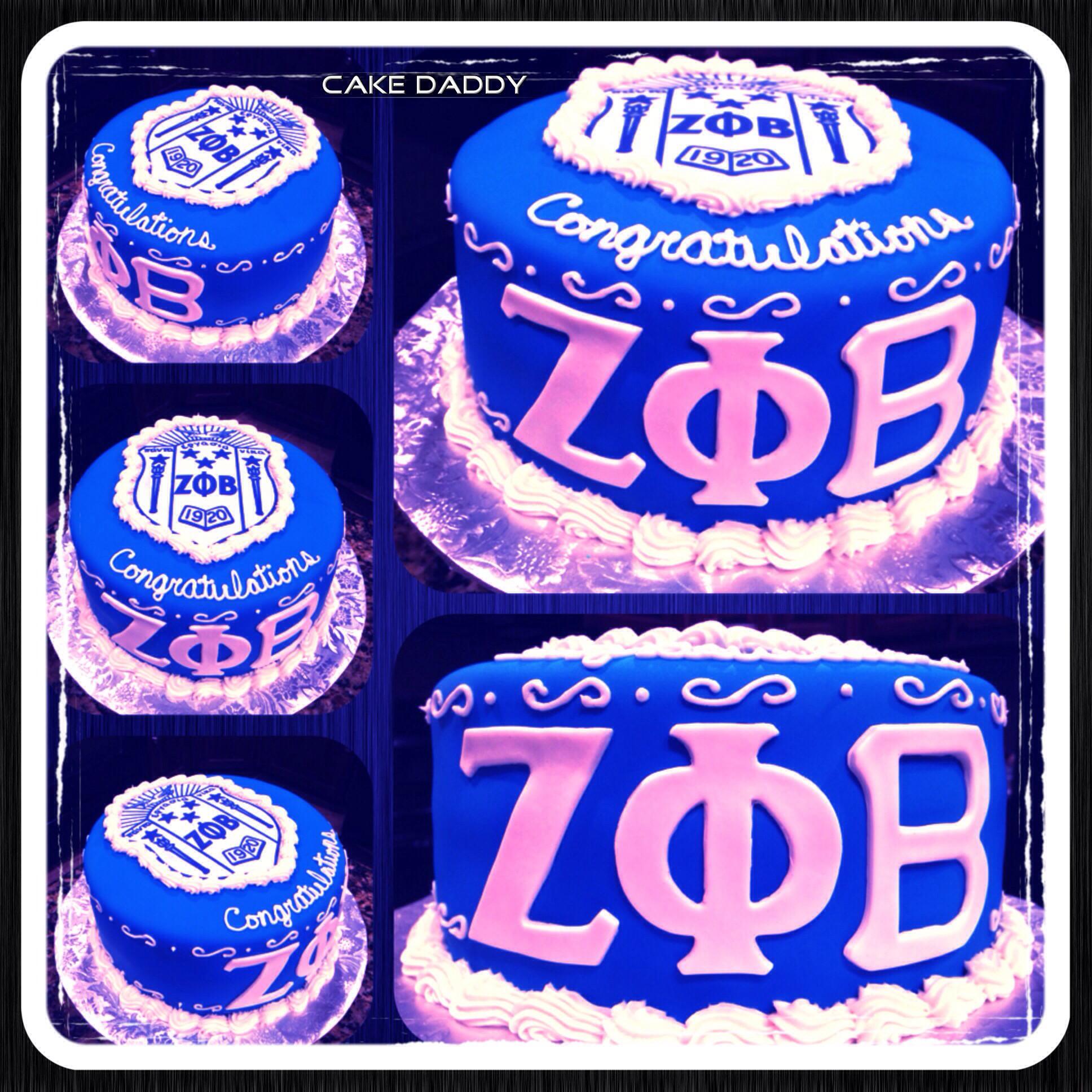 Zeta Phi Beta graduation cake.