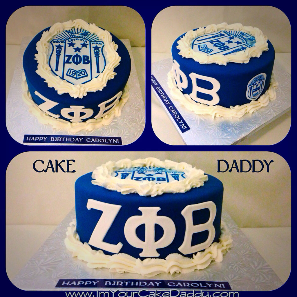 Zeta Phi Beta birthday cake.